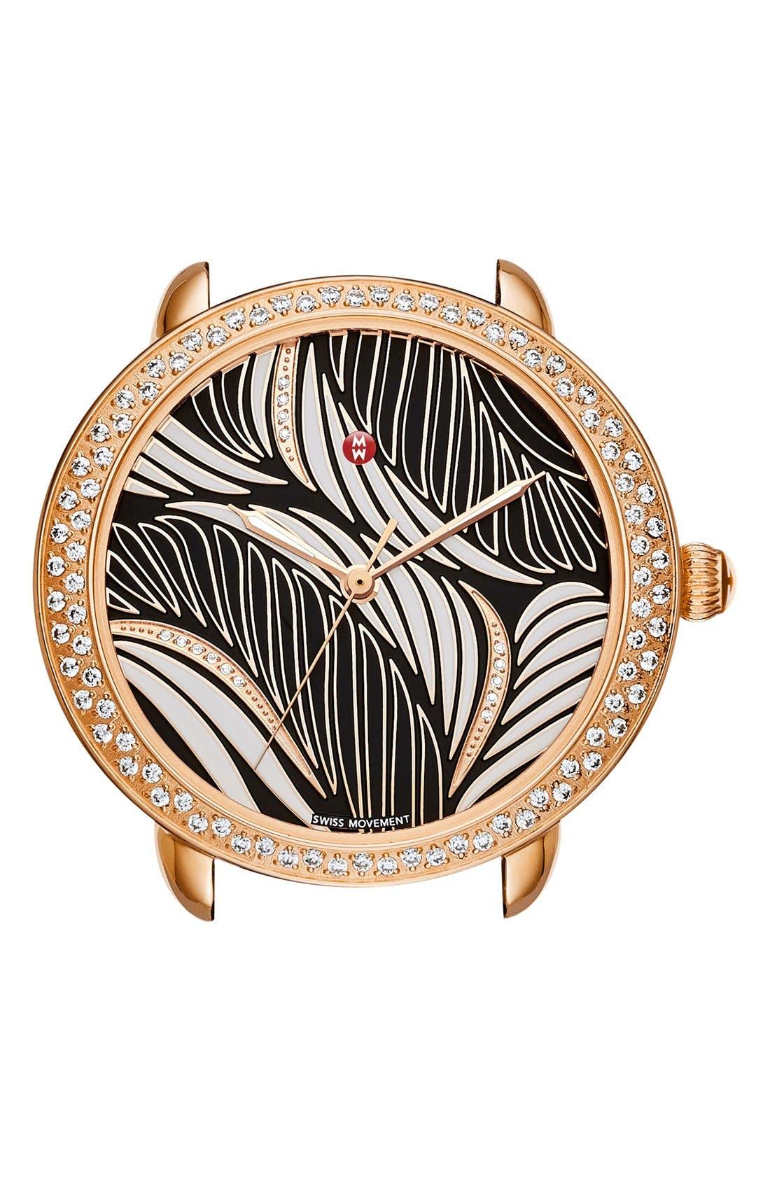 MICHELE Serein 16 Diamond Watch Case, 34mm x 36mm