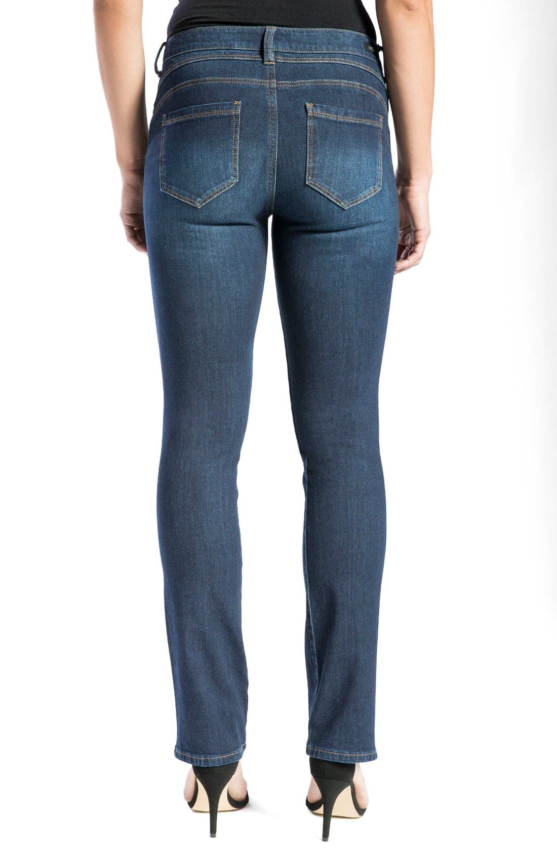 Alternate Image 2  - Liverpool Jeans Company 'Remy - Hugger' Straight Leg Jeans (Corvus)
