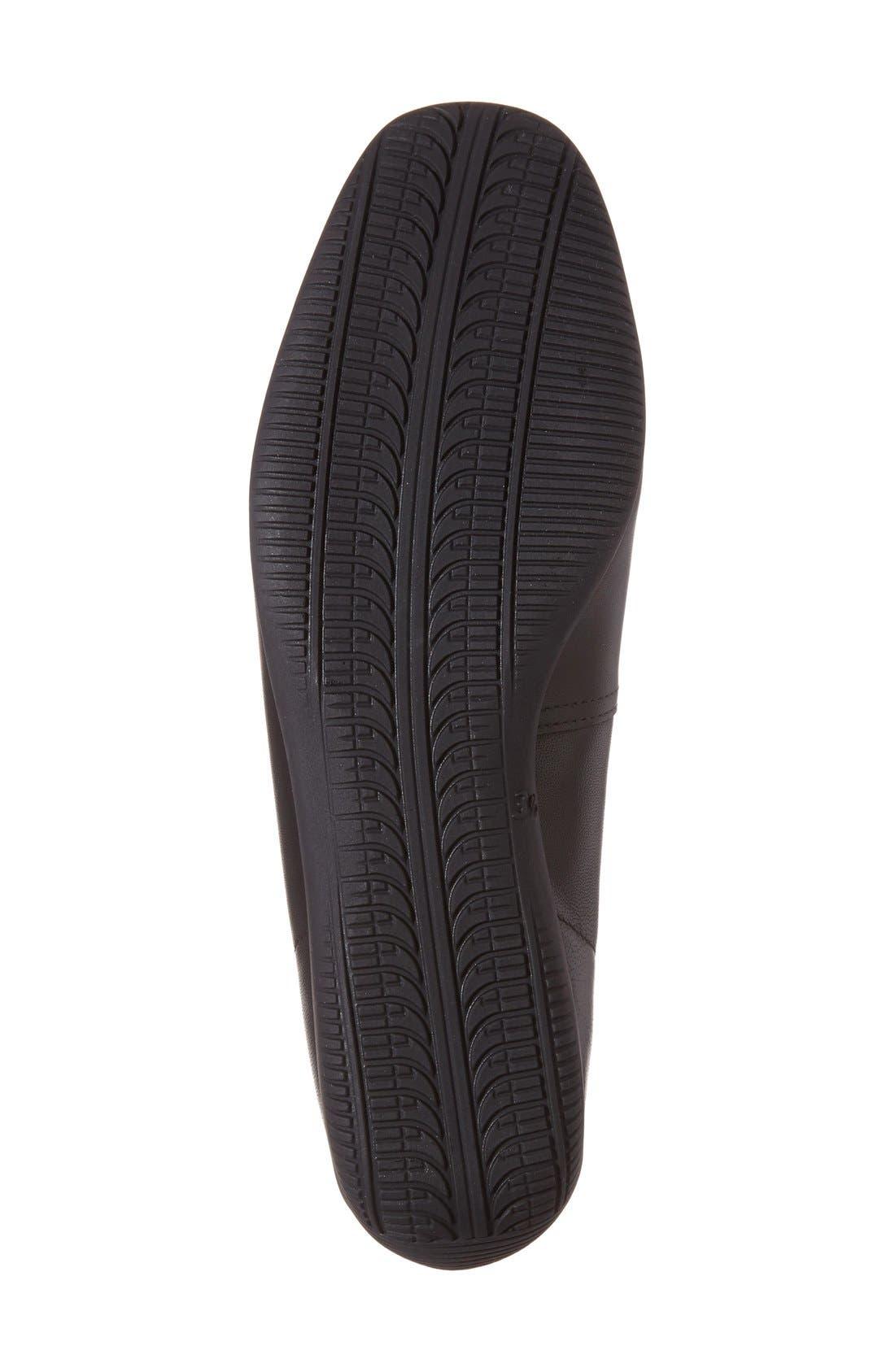 'Bella' Flat,                             Alternate thumbnail 4, color,                             Black Leather