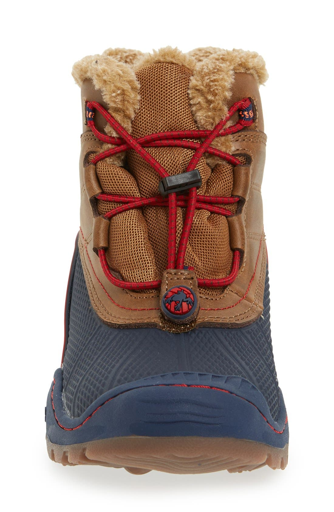 'Baltoro 3' Waterproof Insulated Snow Boot,                             Alternate thumbnail 3, color,                             Brown/ Navy