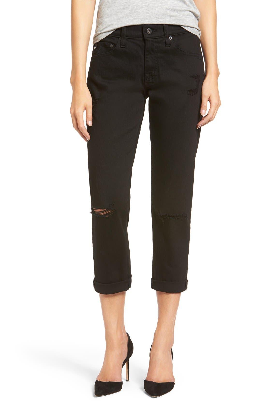 Main Image - AG 'The Ex-Boyfriend' Crop Slim Jeans
