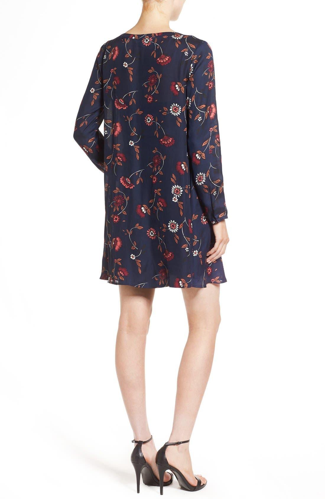 Alternate Image 2  - cupcakes and cashmere 'Hazel' Long Sleeve Shift Dress