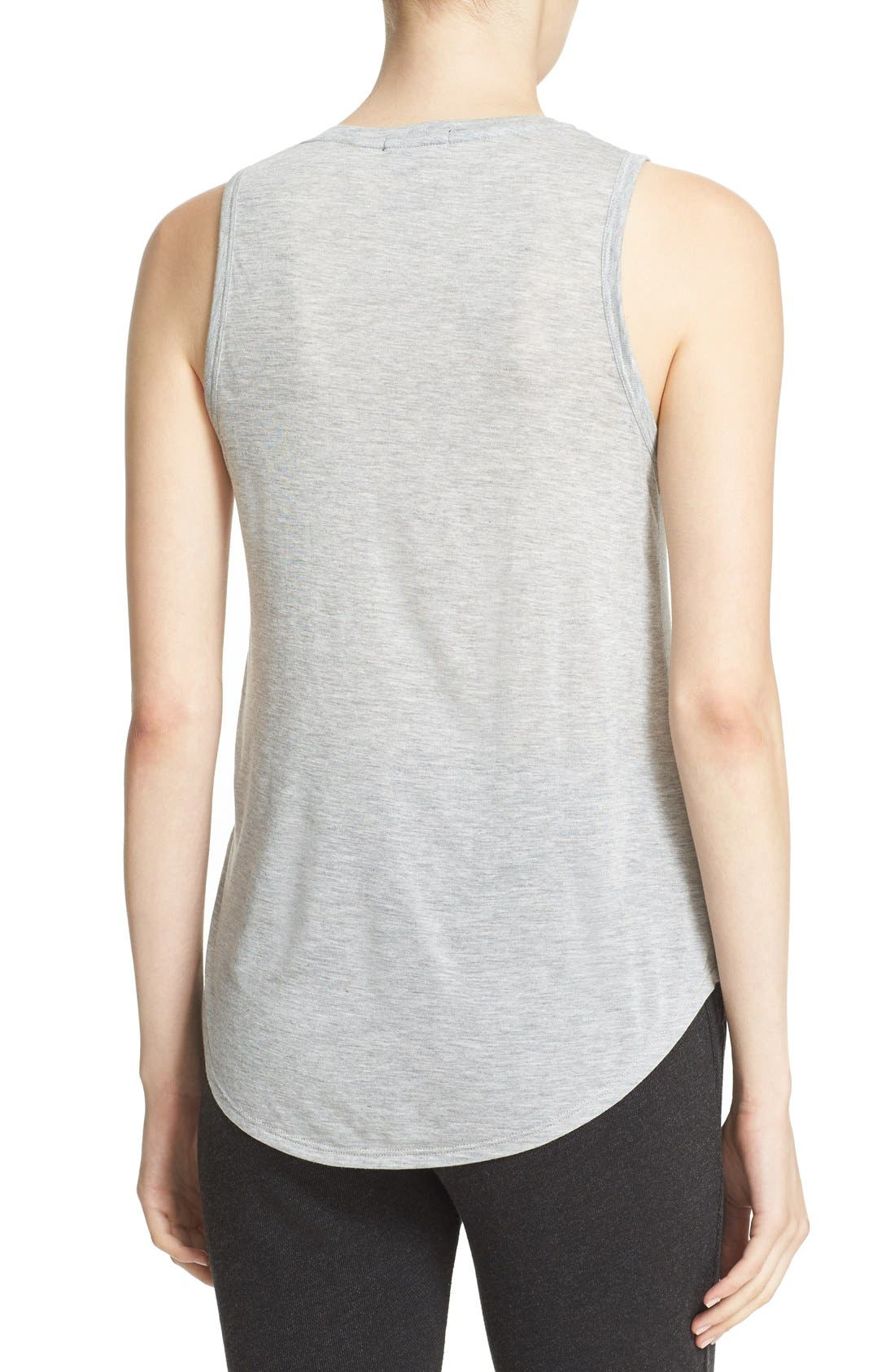 'Sweetheart' Modal Tank,                             Alternate thumbnail 2, color,                             Heather Grey