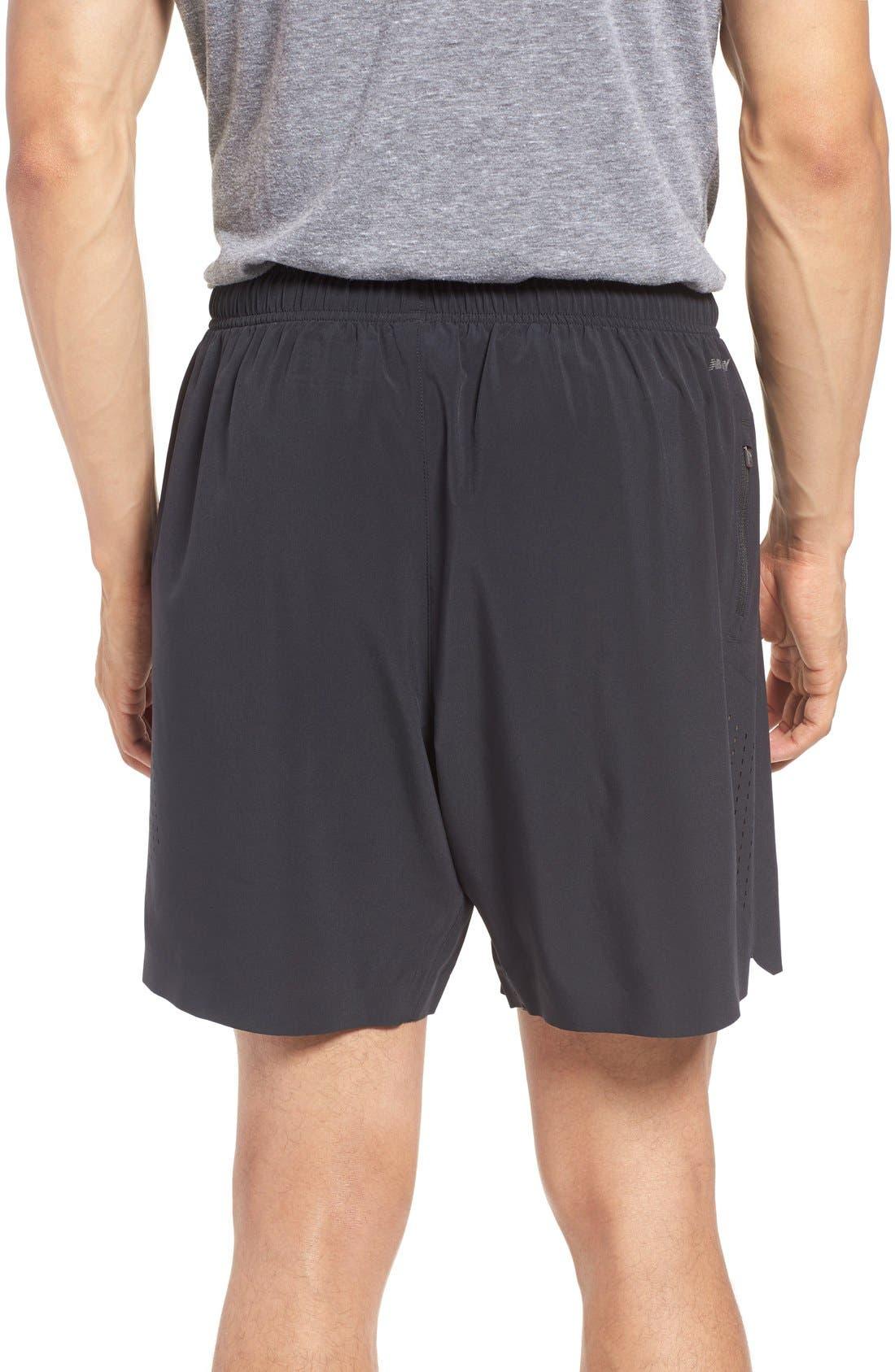 'Shift' Athletic Fit Training Shorts,                             Alternate thumbnail 2, color,                             Black