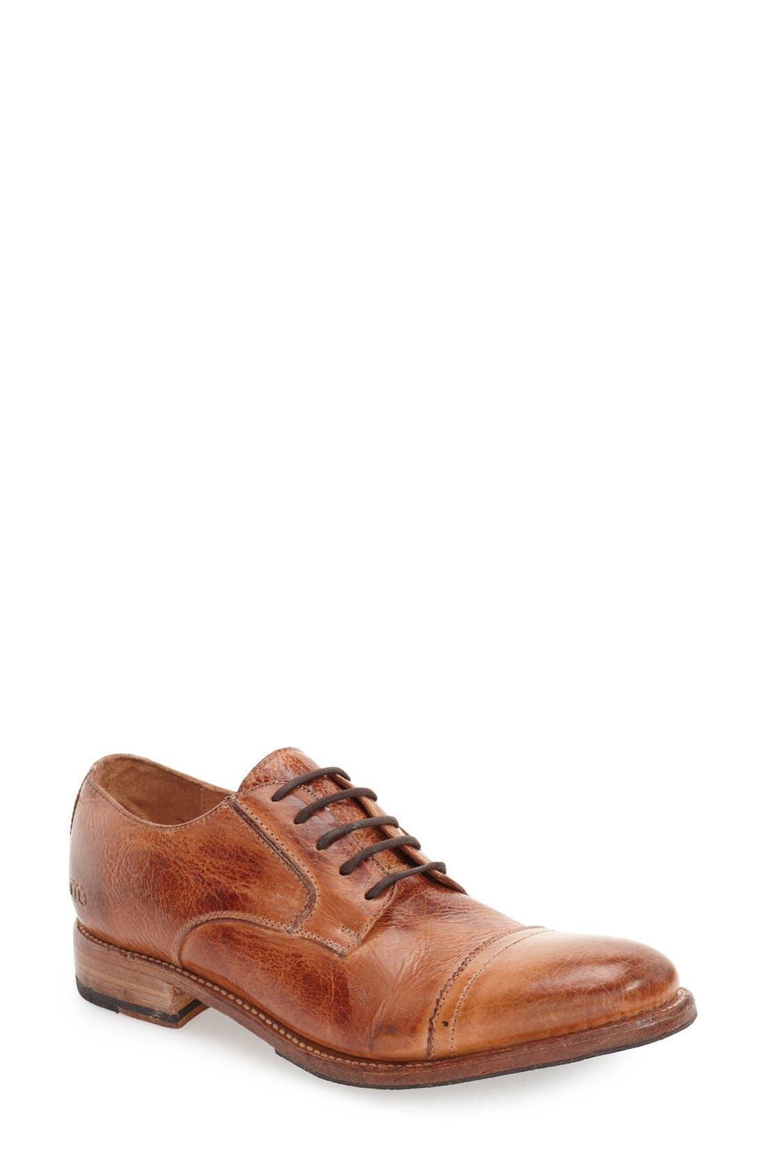 'Diorite' Cap Toe Derby,                             Main thumbnail 1, color,                             Cognac Leather