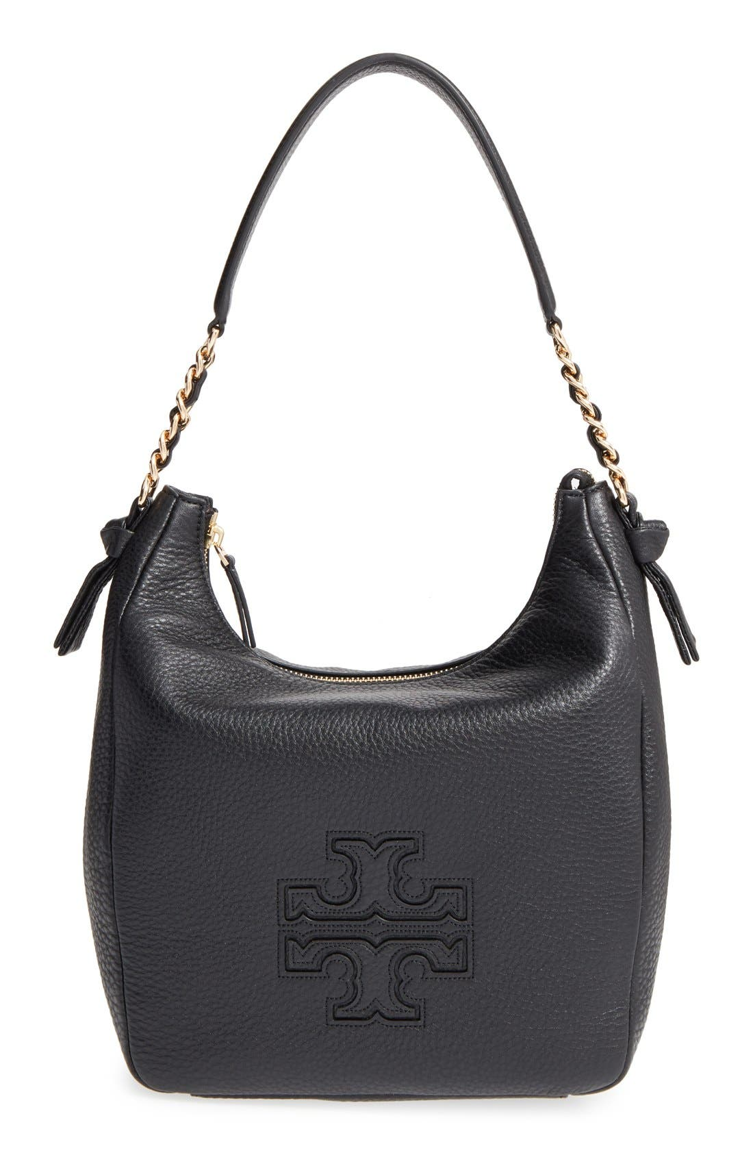 Alternate Image 1 Selected - Tory Burch 'Harper' Leather Zip Hobo