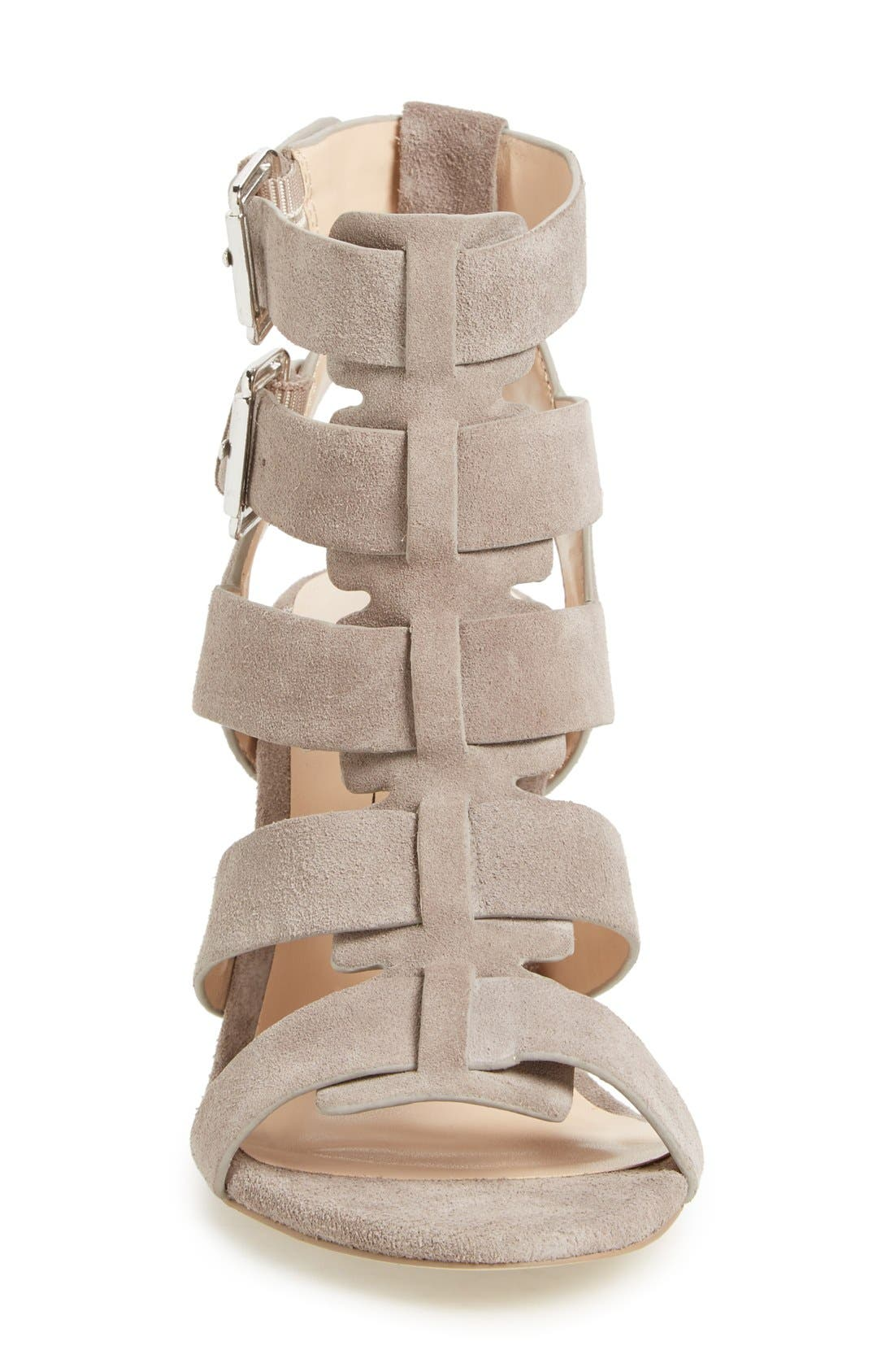 'Rhea' Sandal,                             Alternate thumbnail 3, color,                             Mushroom Suede
