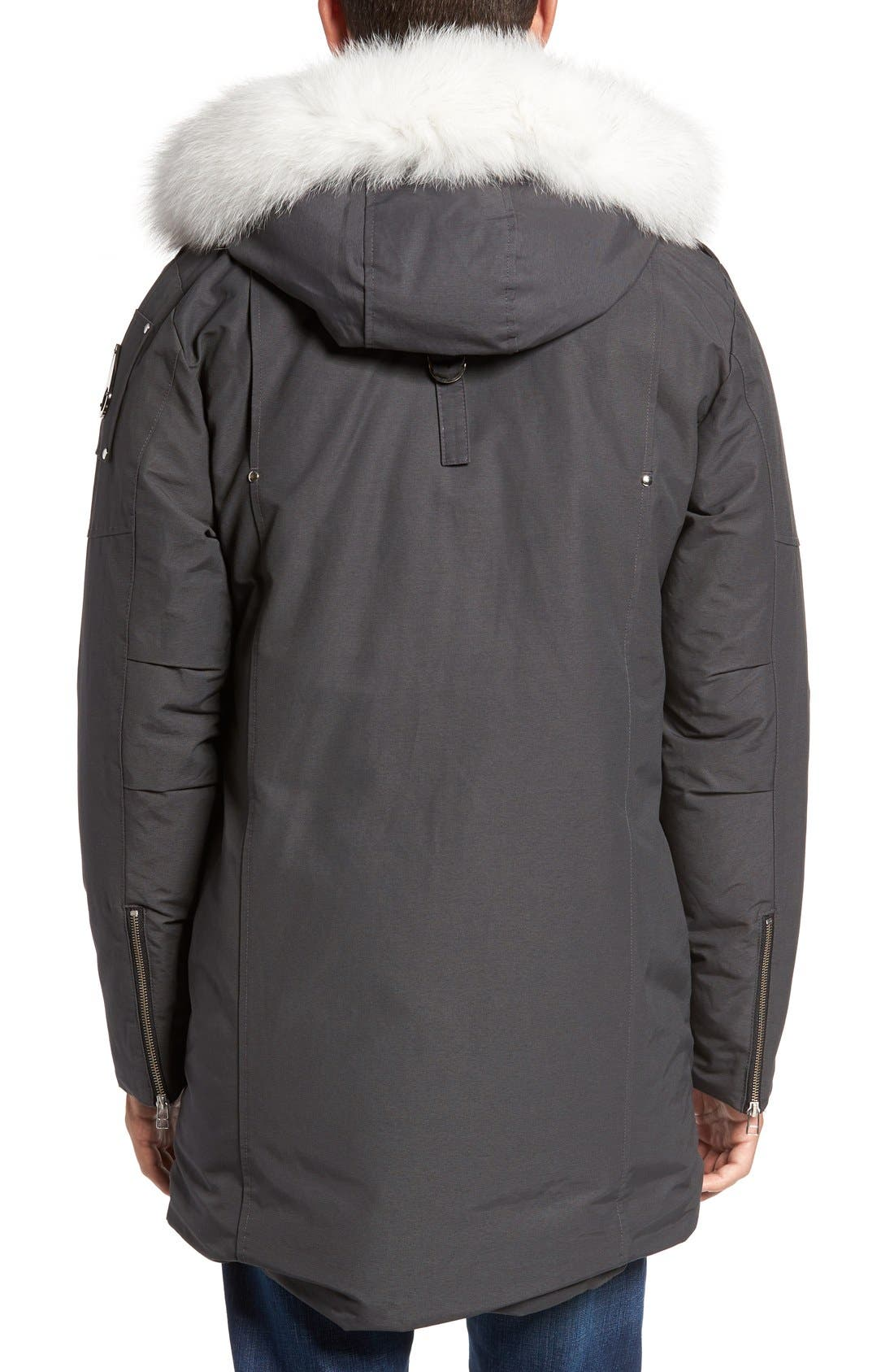 Stirling Water Repellent Down Parka with Genuine Fox Fur Trim,                             Alternate thumbnail 2, color,                             Grey