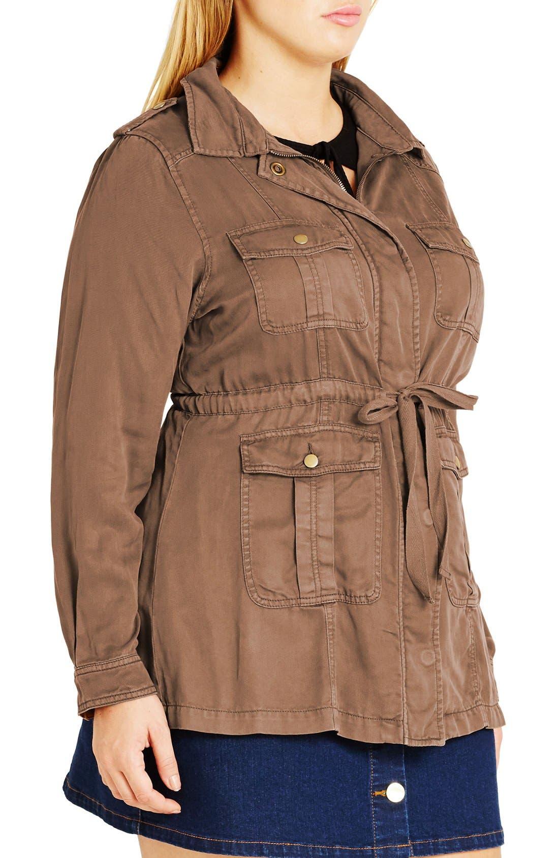 Alternate Image 3  - City Chic 'Adventure' Utility Jacket (Plus Size)