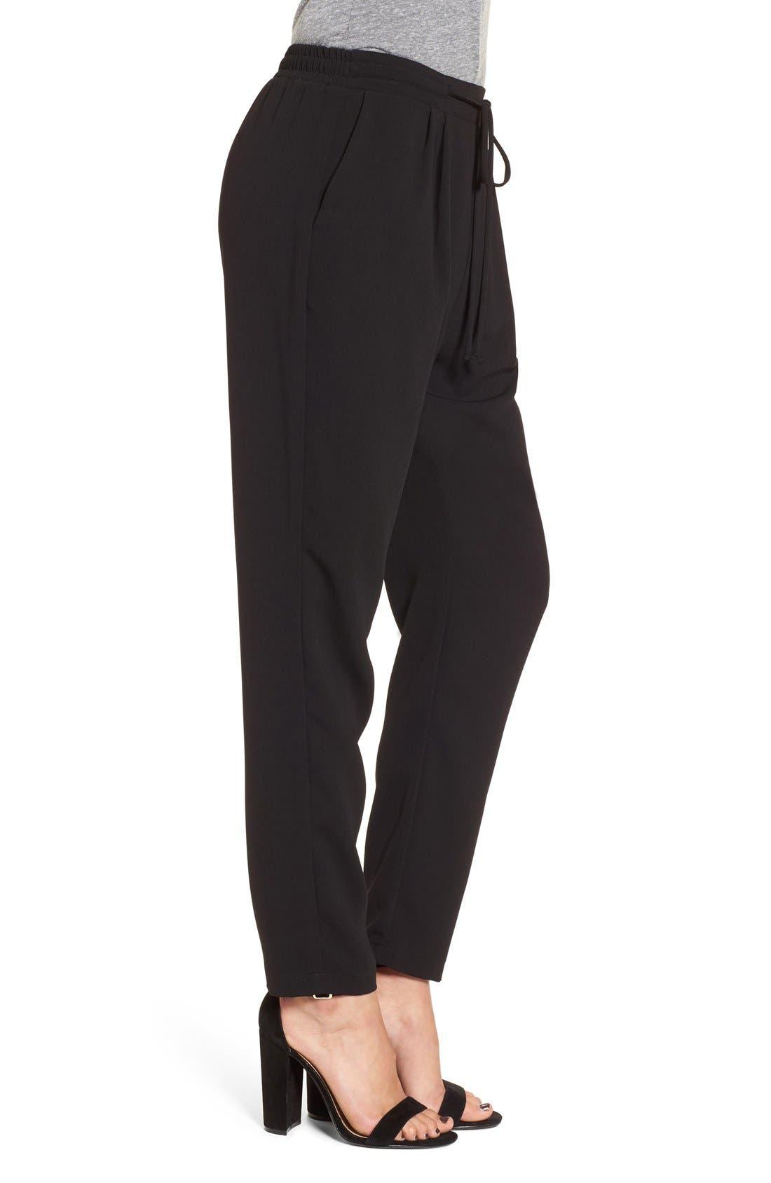 Alternate Image 4  - Lush Tie Waist Woven Pants