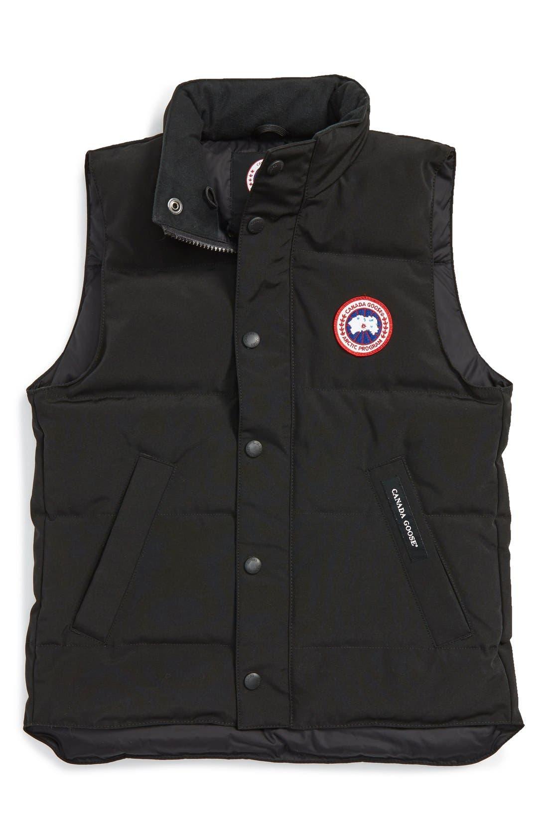 'Vanier' Down Vest,                         Main,                         color, Black