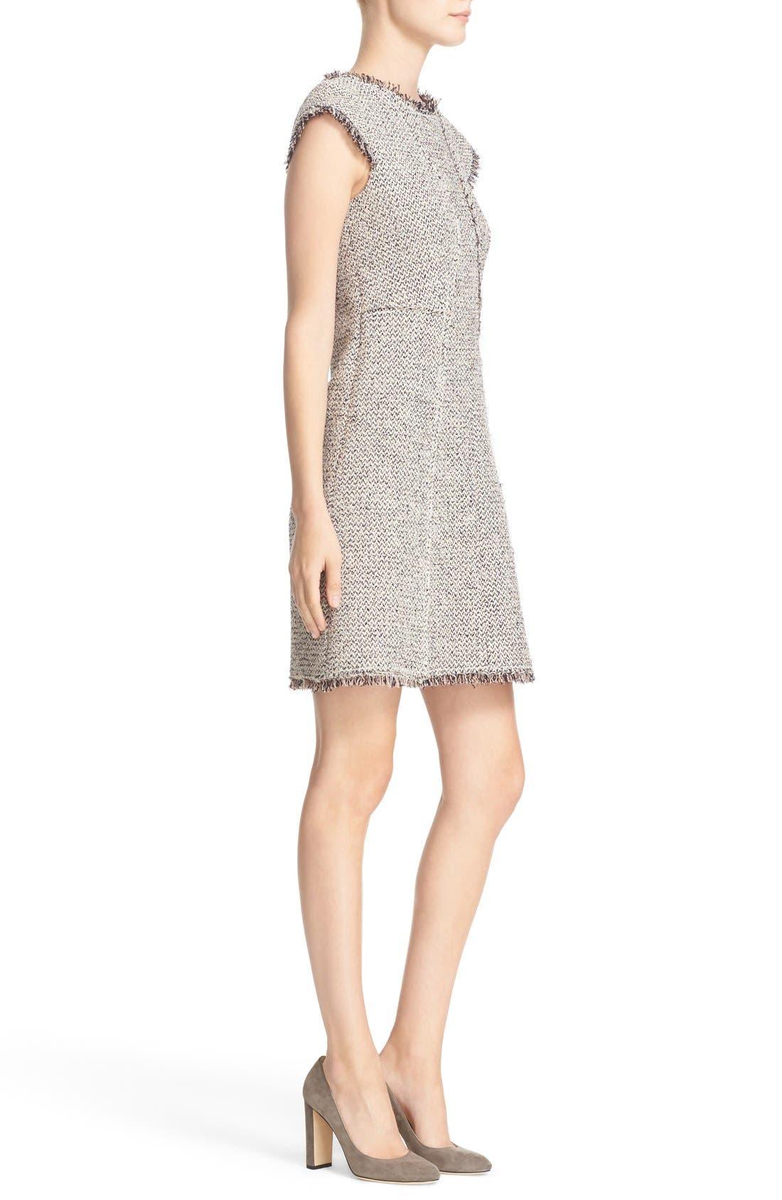 Alternate Image 3  - Rebecca Taylor Structured Tweed Sheath Dress