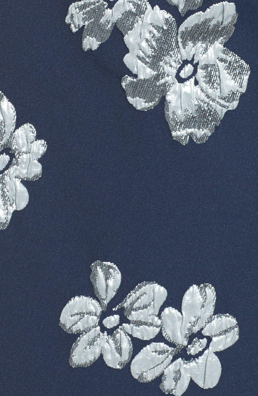 Alternate Image 5  - Badgley Mischka Off the Shoulder Floral Mermaid Gown