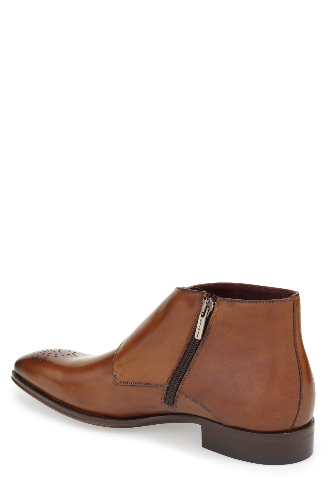 'Rocca' Midi Double Monk Strap Boot,                             Alternate thumbnail 2, color,                             Cognac