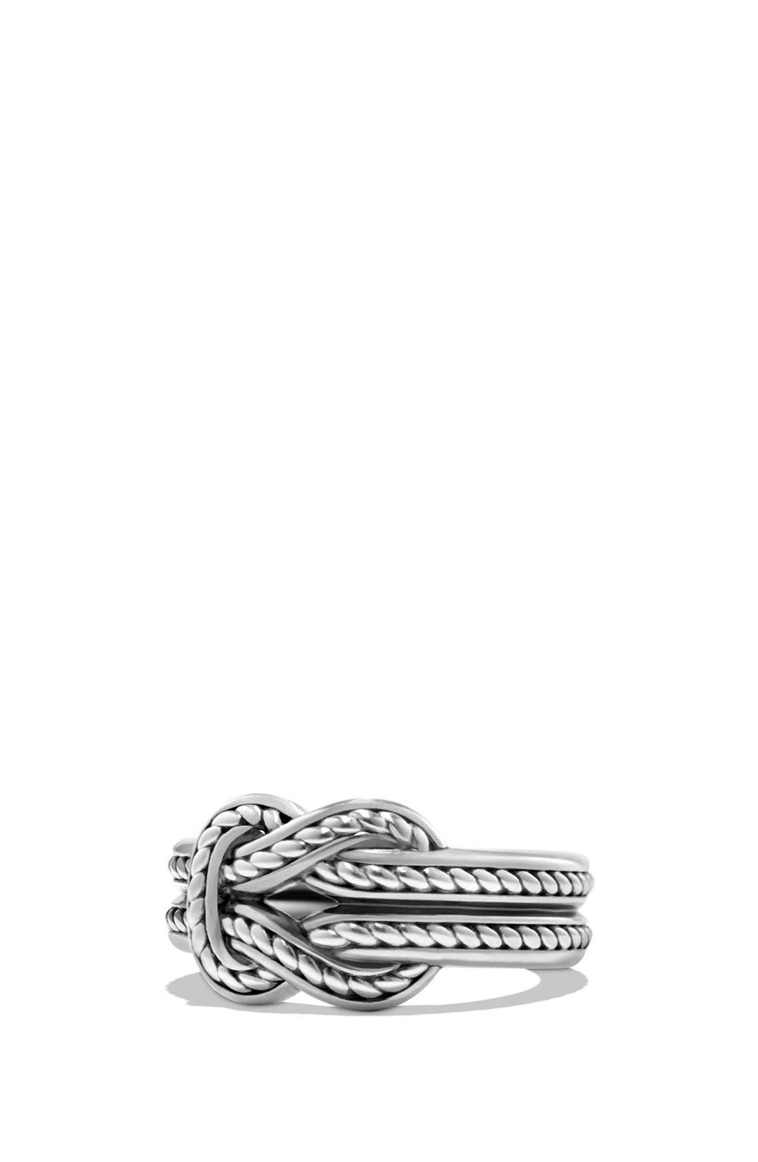 'Maritime' Reef Knot Band Ring,                         Main,                         color, Silver