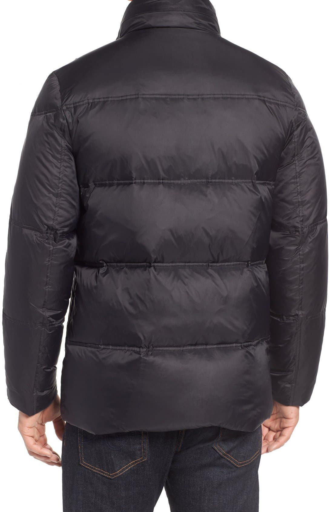 Quilted Jacket with Convertible Neck Pillow,                             Alternate thumbnail 2, color,                             Black