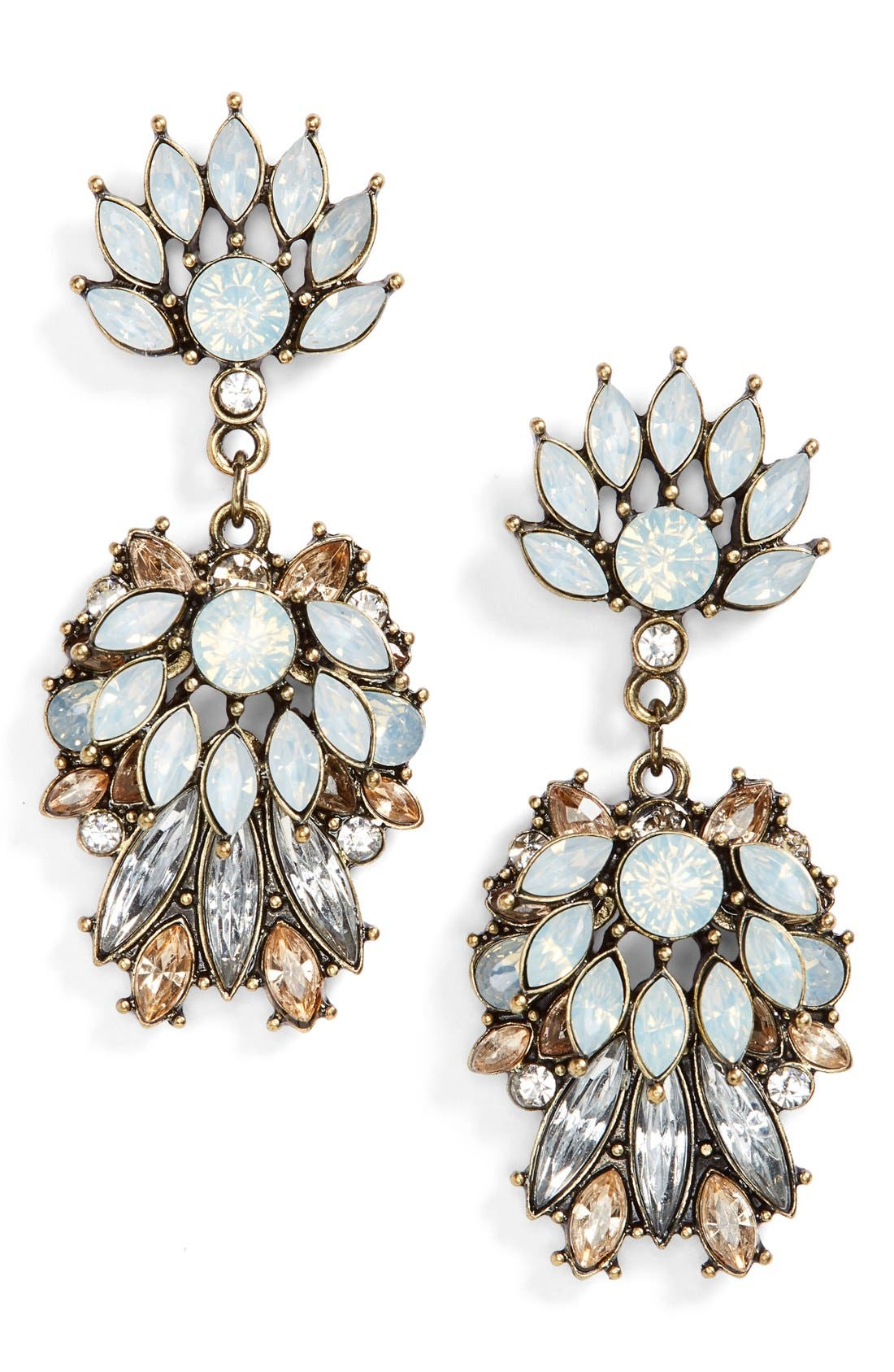 Main Image - BP. Flower Stone Statement Earrings