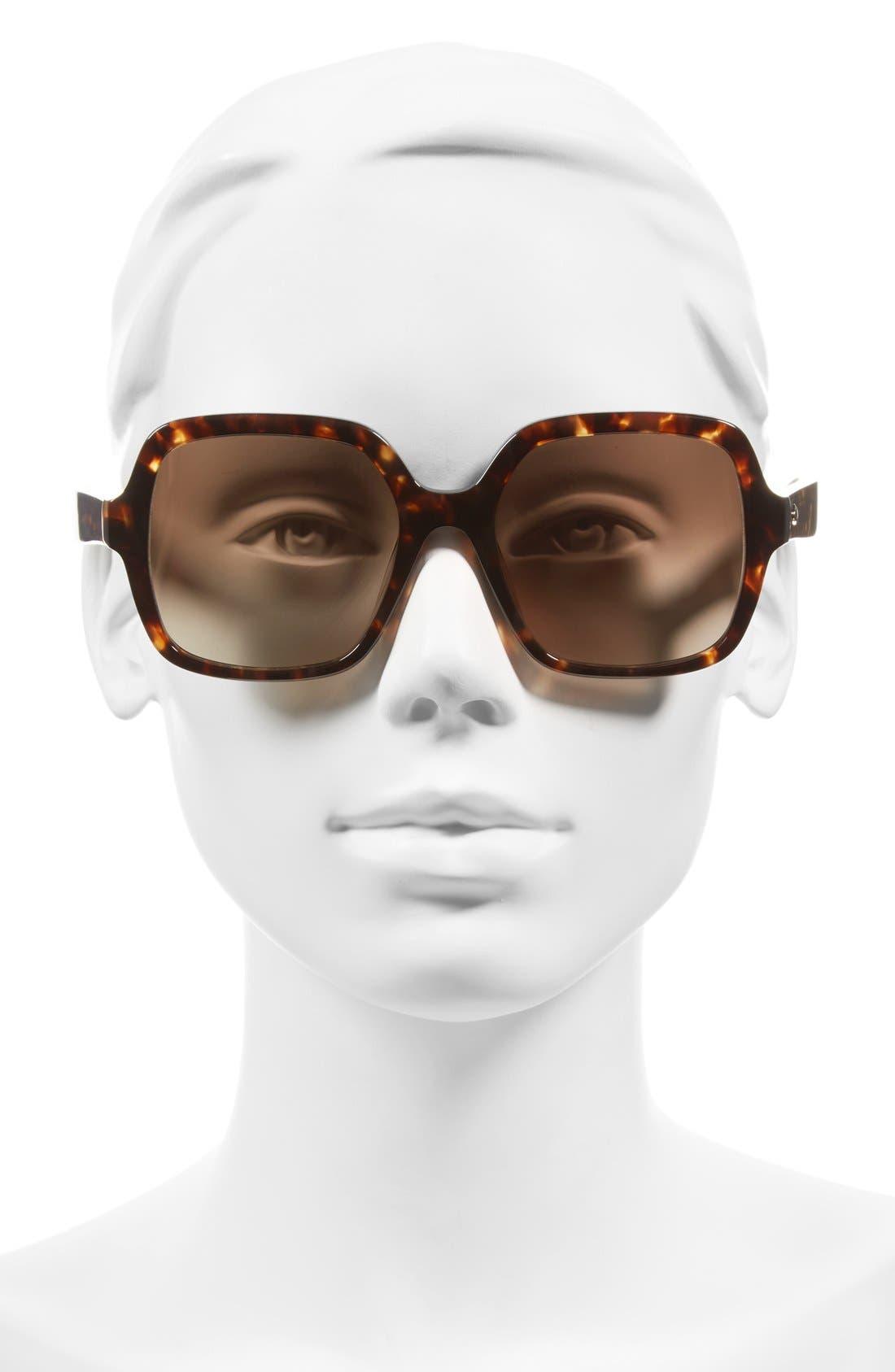 Alternate Image 2  - kate spade new york 'katels' 54mm sunglasses