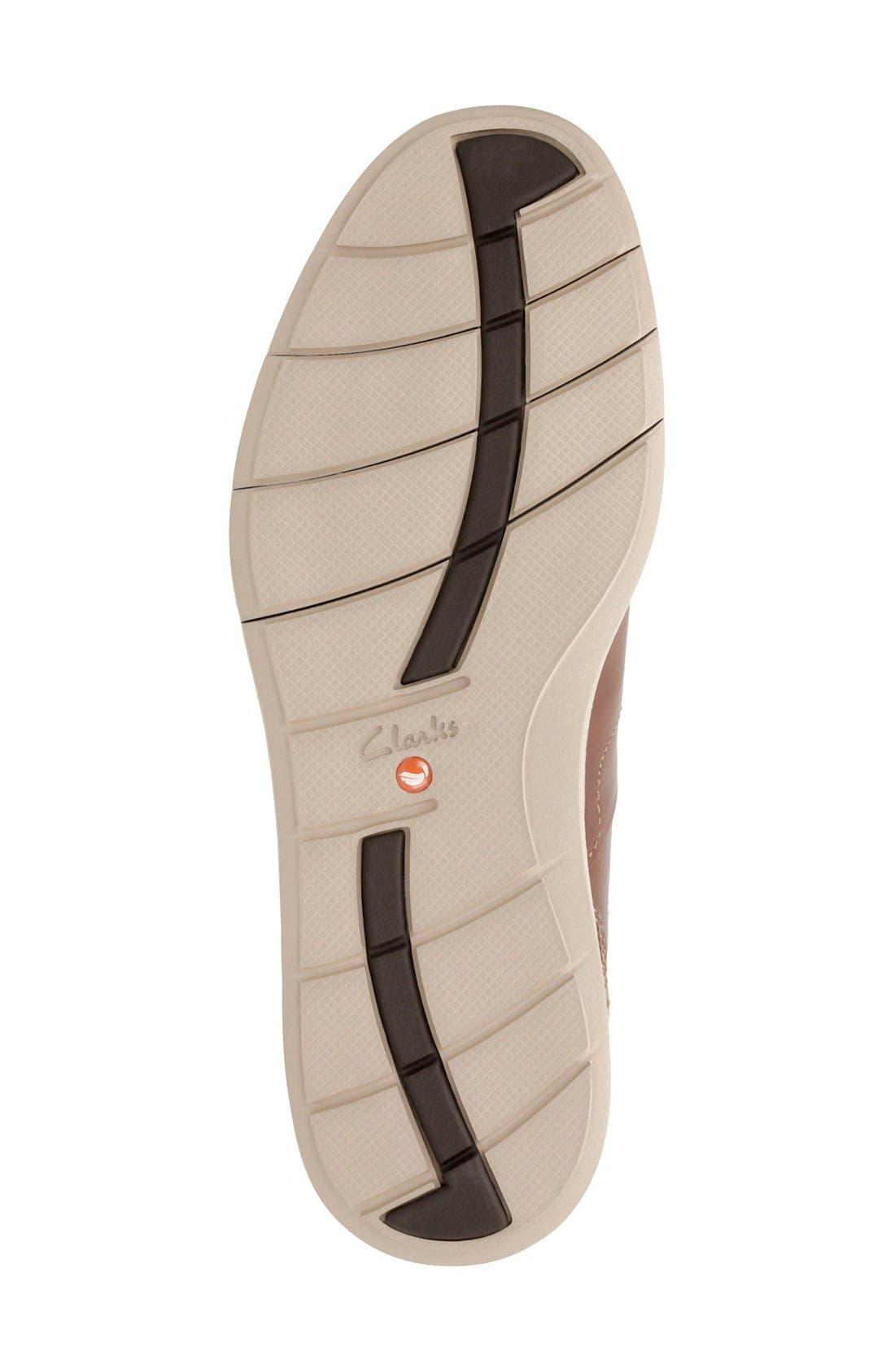 Alternate Image 4  - Clarks® 'Unstructured - Lomac' Leather Sneaker (Men)