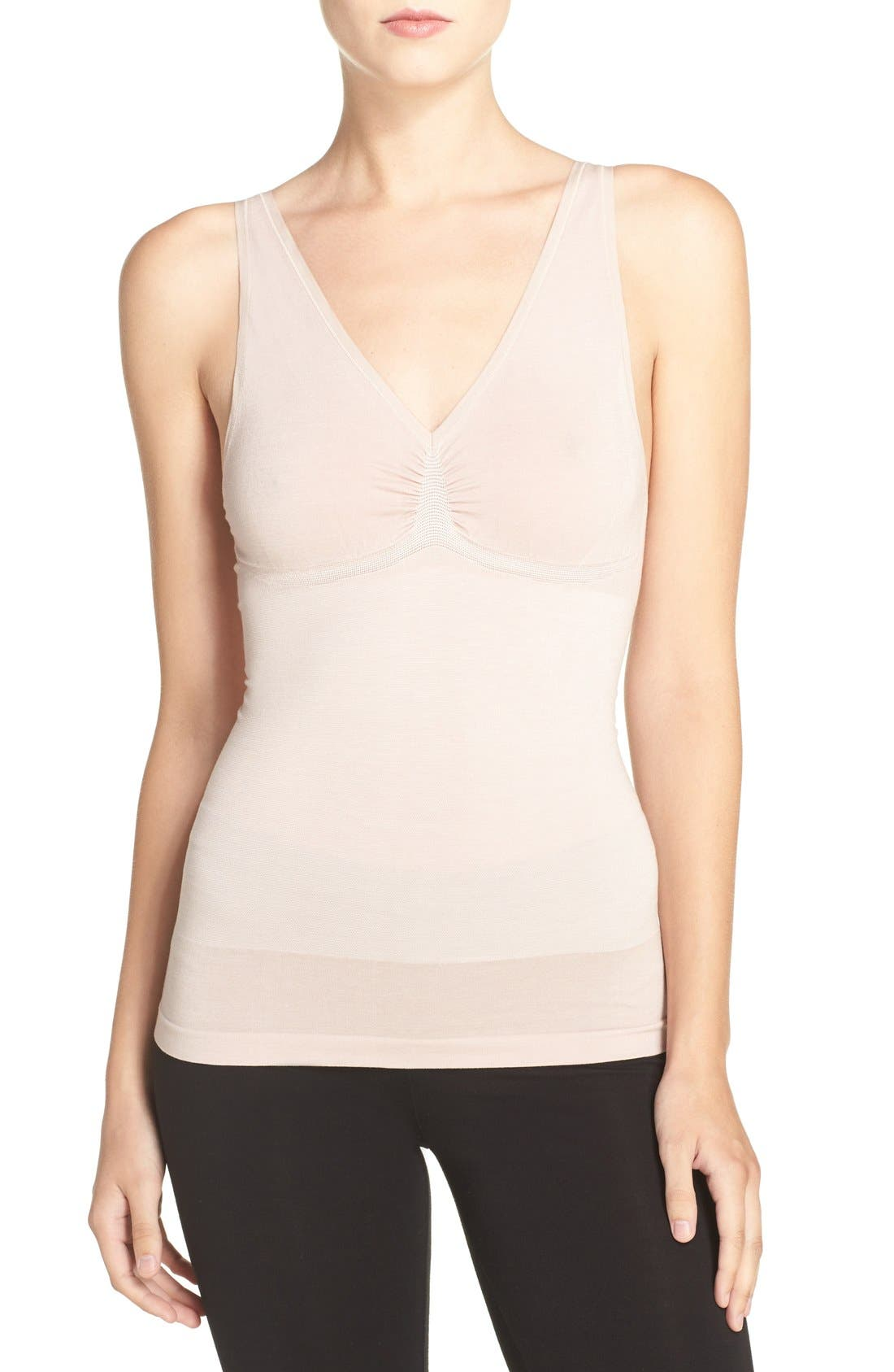 Adella Convertible Smoother Camisole,                         Main,                         color, Mushroom