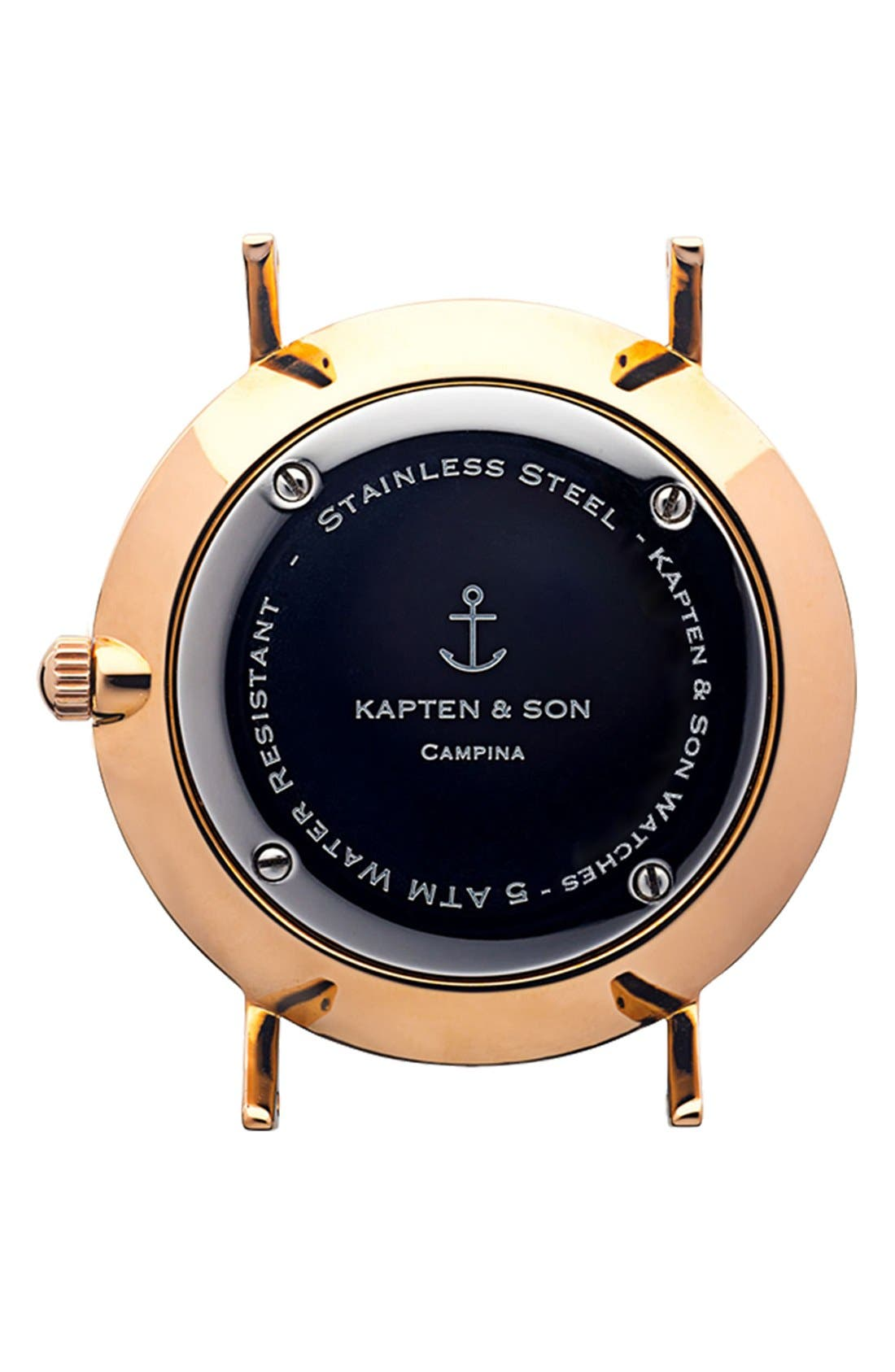 Alternate Image 2  - Kapten and Son 'Campina' Leather Strap Watch, 36mm