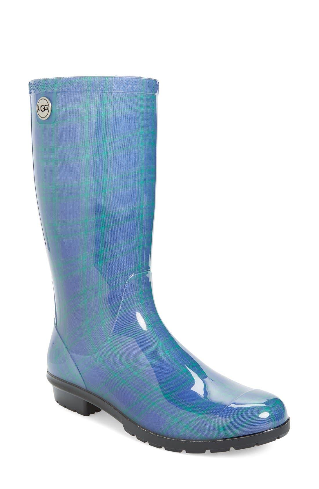 Alternate Image 1 Selected - UGG® 'Shaye' Genuine Shearling Lined Waterproof Mid-Calf Rain Boot (Women)