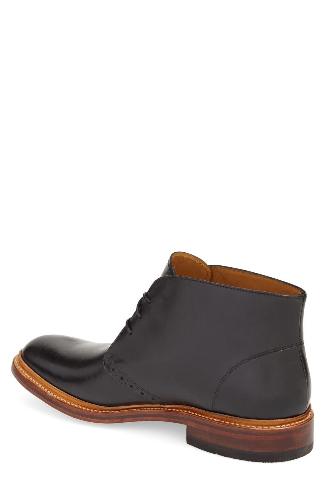 'Madison II' Chukka Boot,                             Alternate thumbnail 2, color,                             Black Smooth Leather