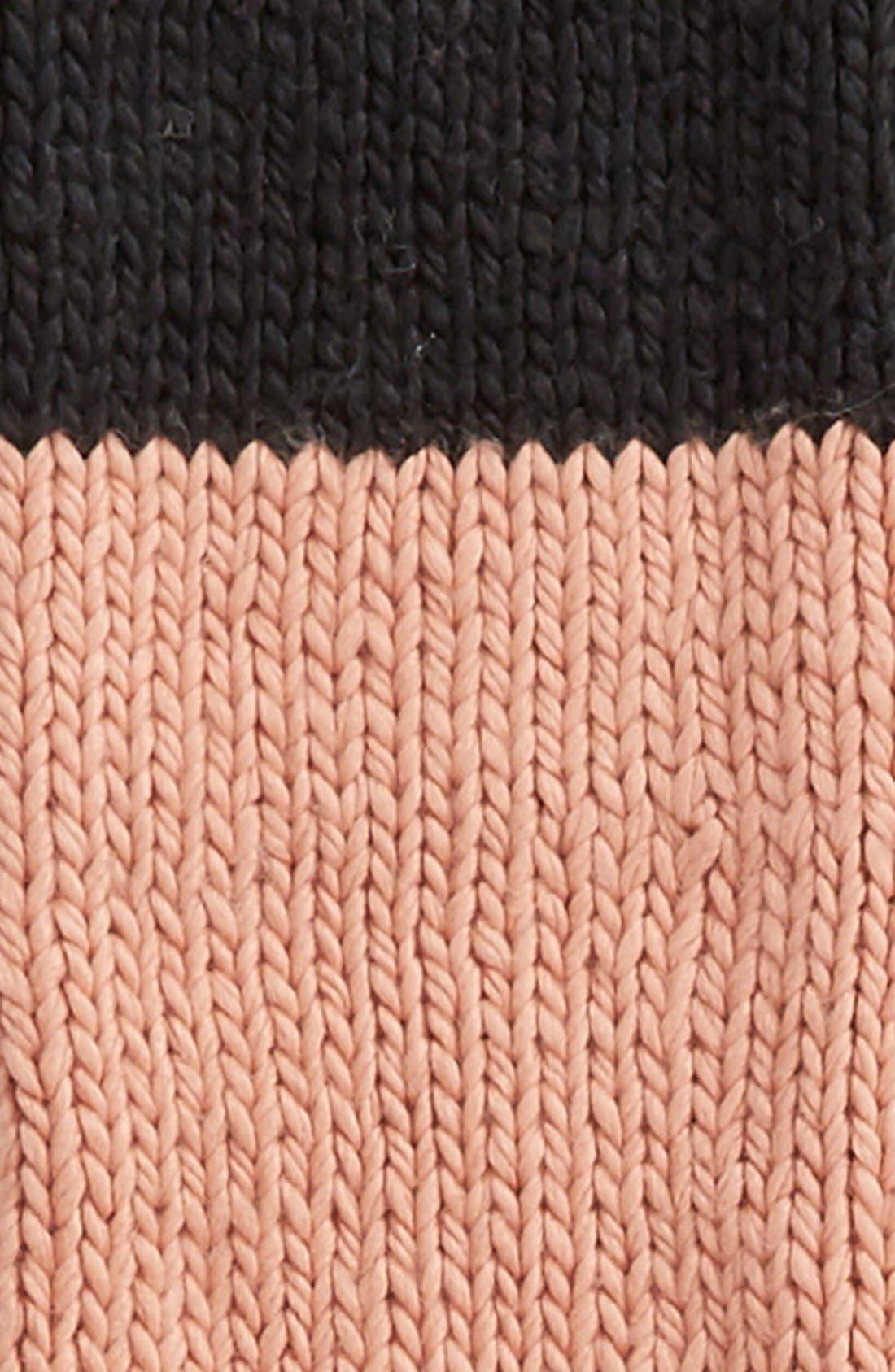 Alternate Image 3  - kate spade new york hand knit colorblock muffler