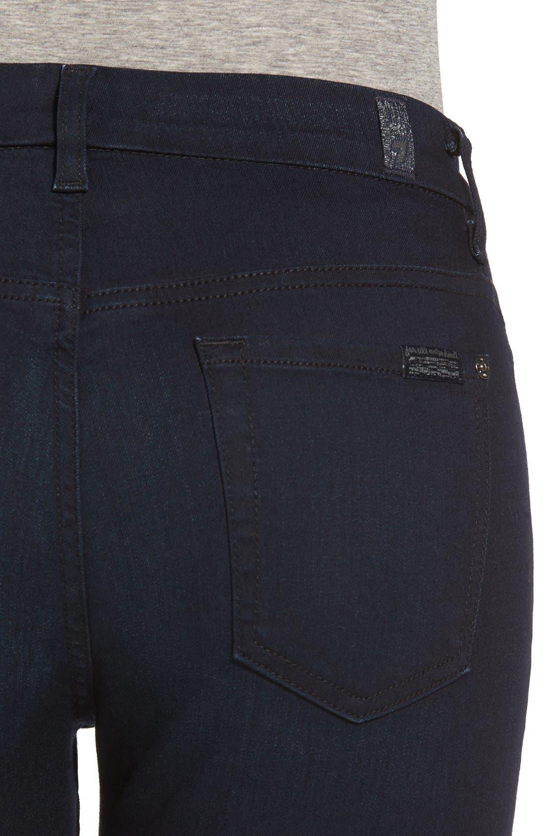 Alternate Image 4  - 7 For All Mankind b(air) High Waist Skinny Jeans (Blue/Black River Thames)