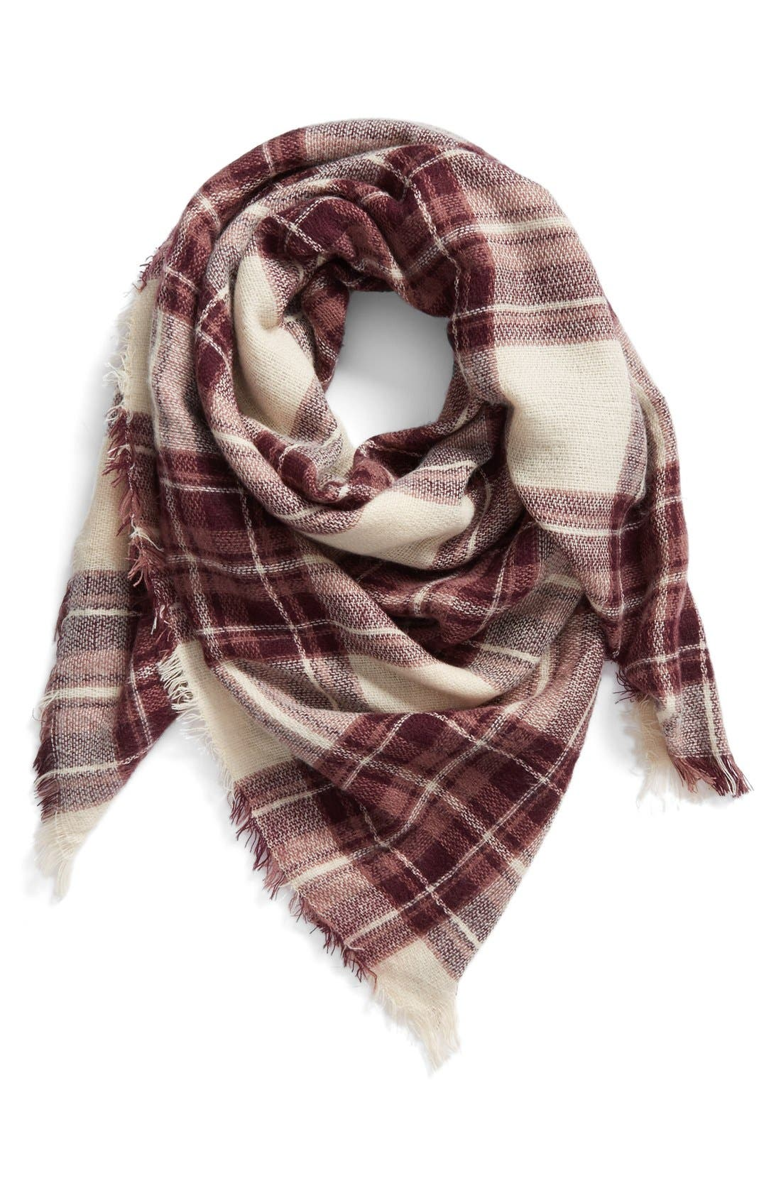 Main Image - BP. Plaid Square Scarf