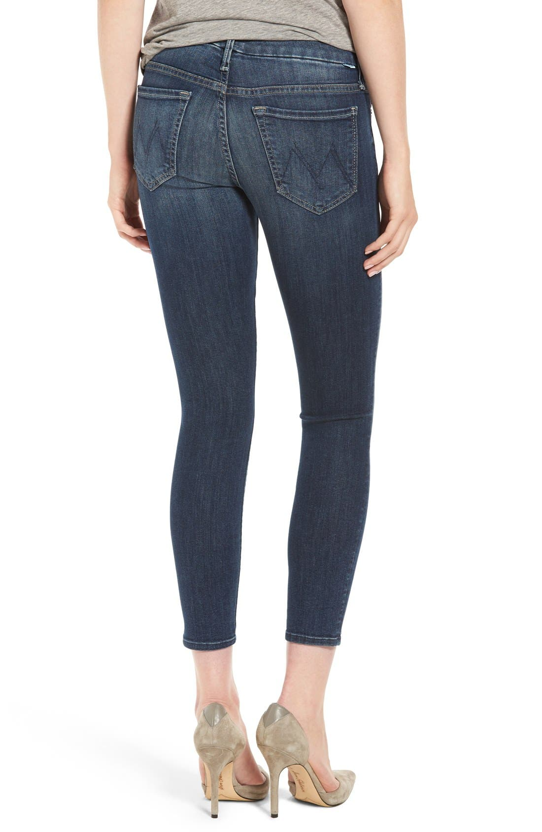 Alternate Image 2  - MOTHER 'The Looker' Crop Skinny Jeans (Here Kitty Kitty)