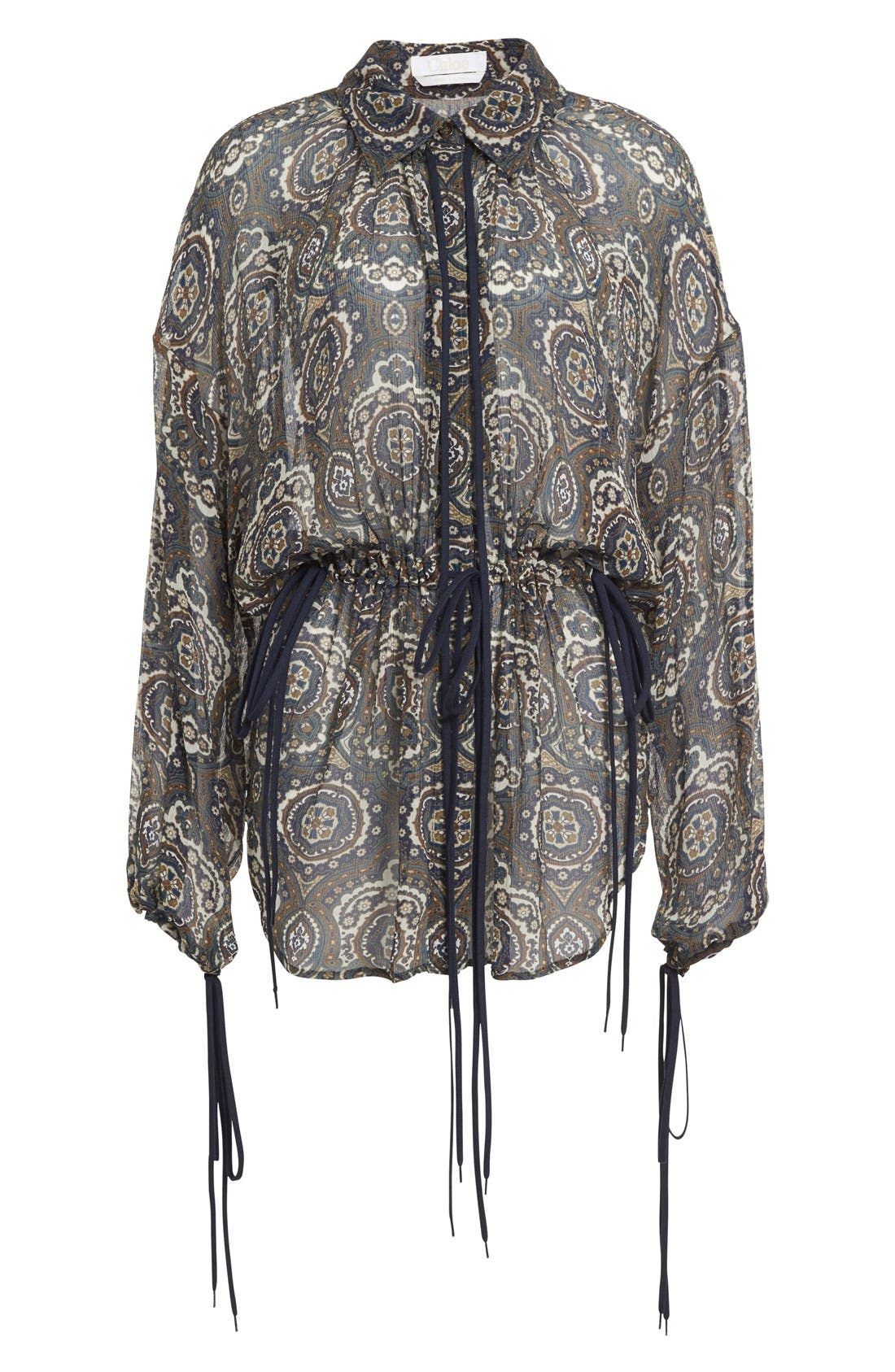 Alternate Image 4  - Chloé Medallion Print Silk Crepon Blouse