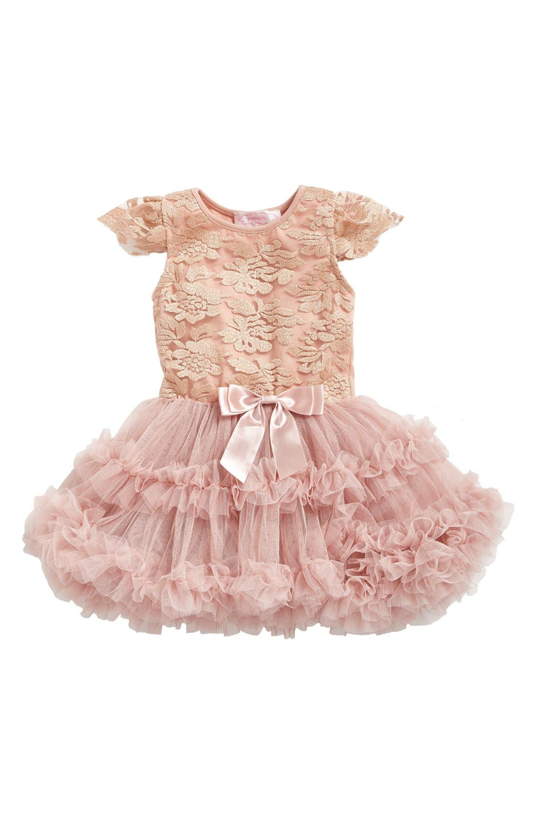 Lace Pettidress,                             Main thumbnail 1, color,                             Dusty Pink