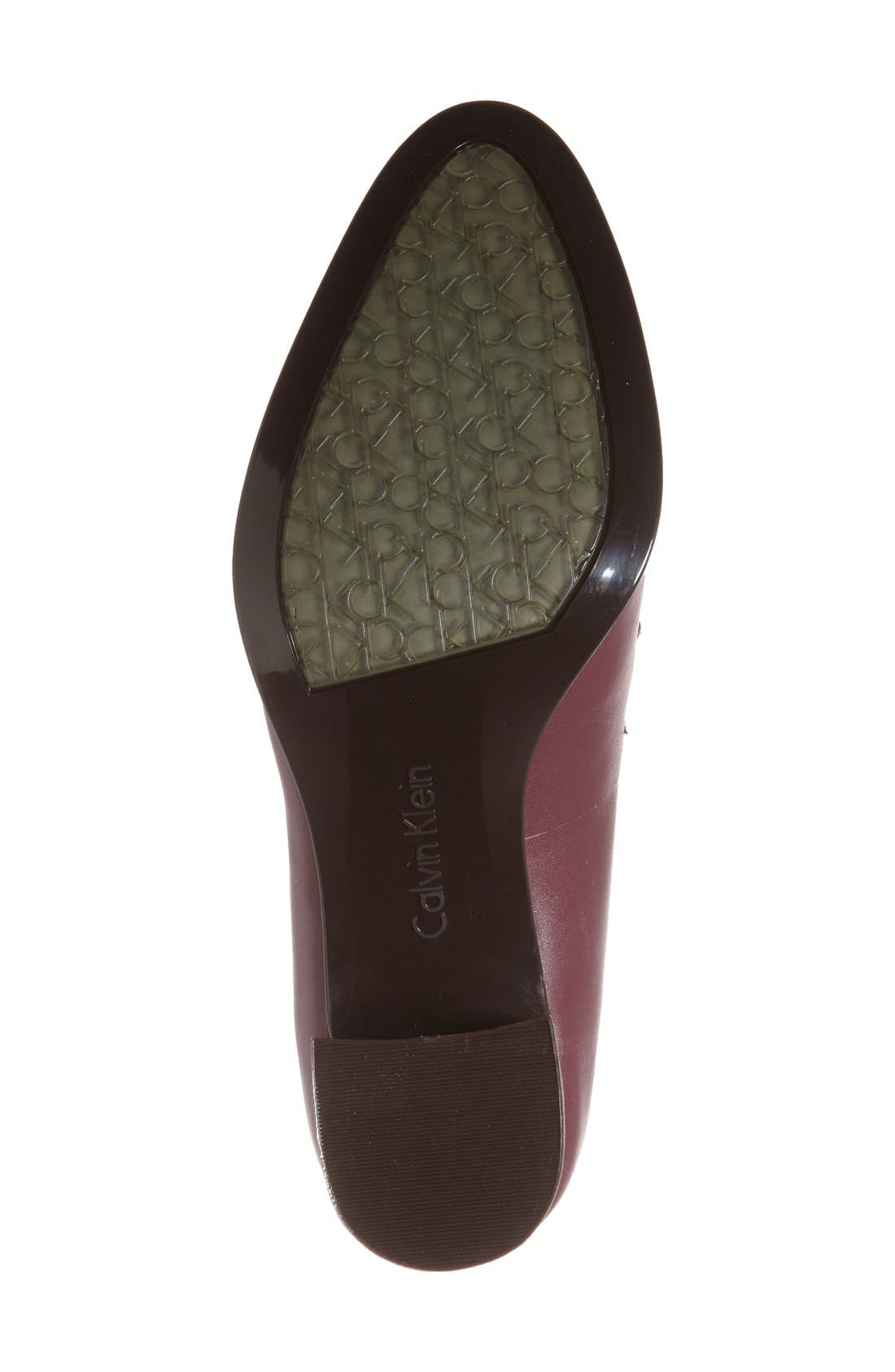 Alternate Image 4  - Calvin Klein 'Finney' Loafer Pump (Women)