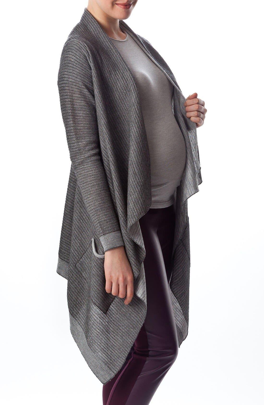 Alternate Image 3  - PIETRO BRUNELLI 'Merano' Maternity Drape Front Cardigan