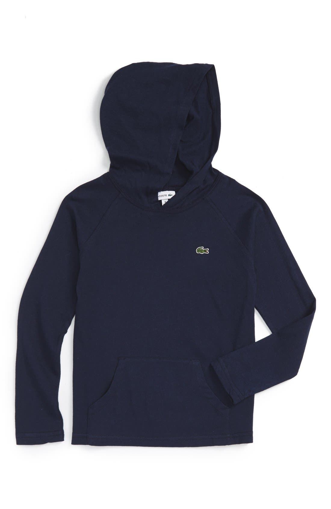 Main Image - Lacoste Hooded Jersey T-Shirt (Big Boys)