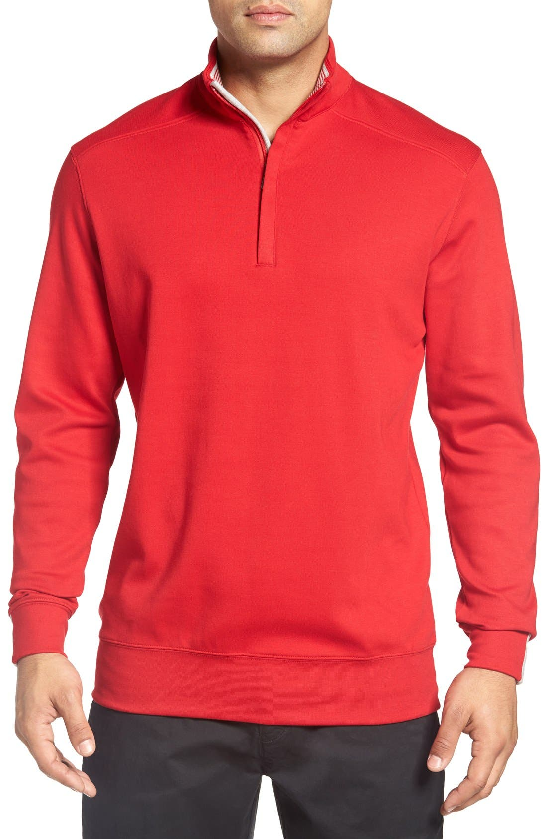 Bobby Jones 'New Leaderboard' Quarter Zip Pullover