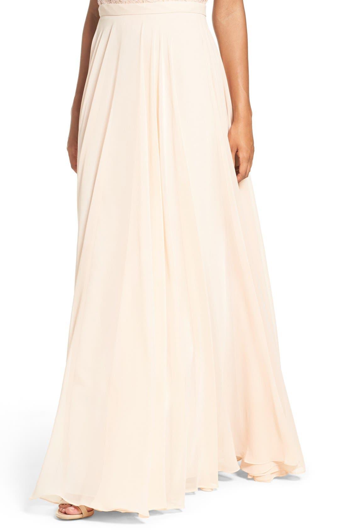 Alternate Image 4  - Jenny Yoo 'Hampton' Long A-Line Chiffon Skirt