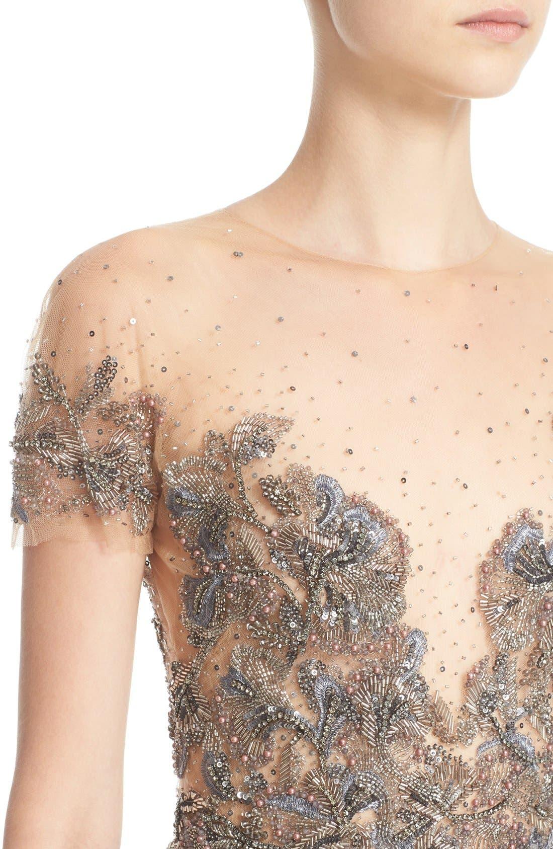 Alternate Image 5  - Marchesa Embellished Tulle Bodice Sheath Dress (Nordstrom Exclusive)
