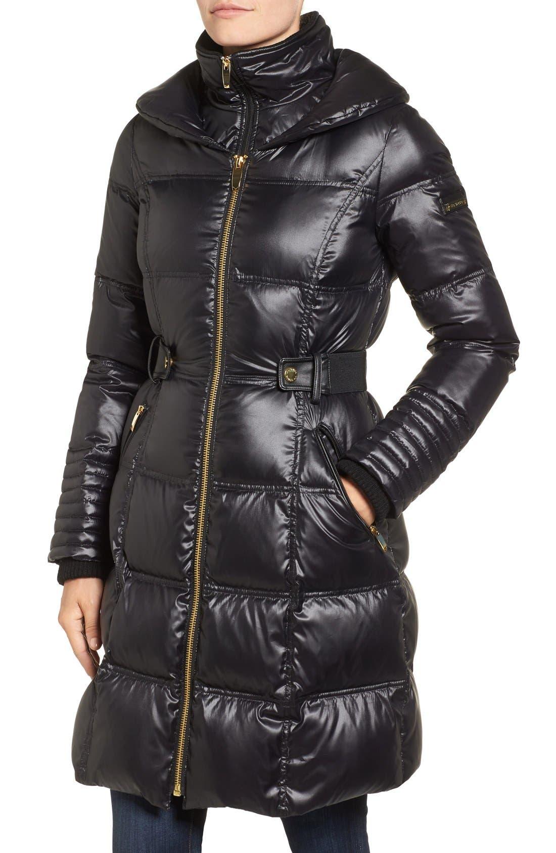 Alternate Image 4  - Via Spiga Quilted Coat with Faux Fur Trim