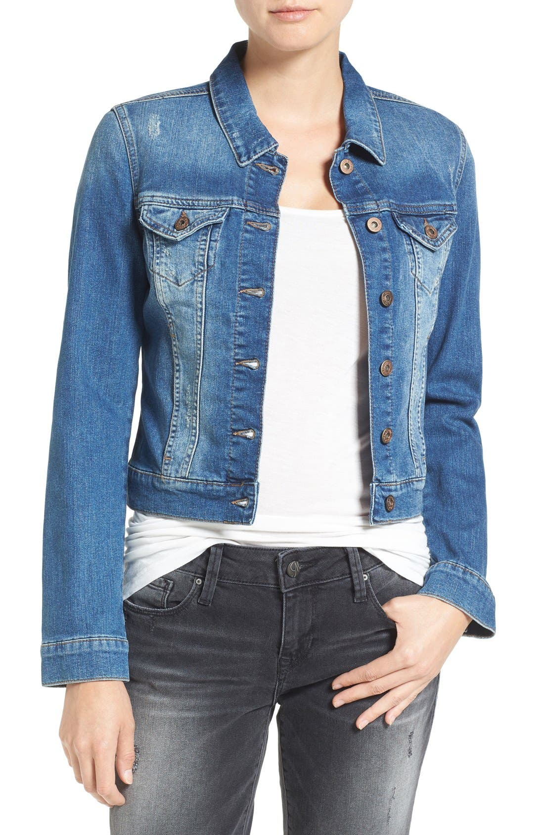 Mavi Jeans Samantha Distressed Denim Jacket