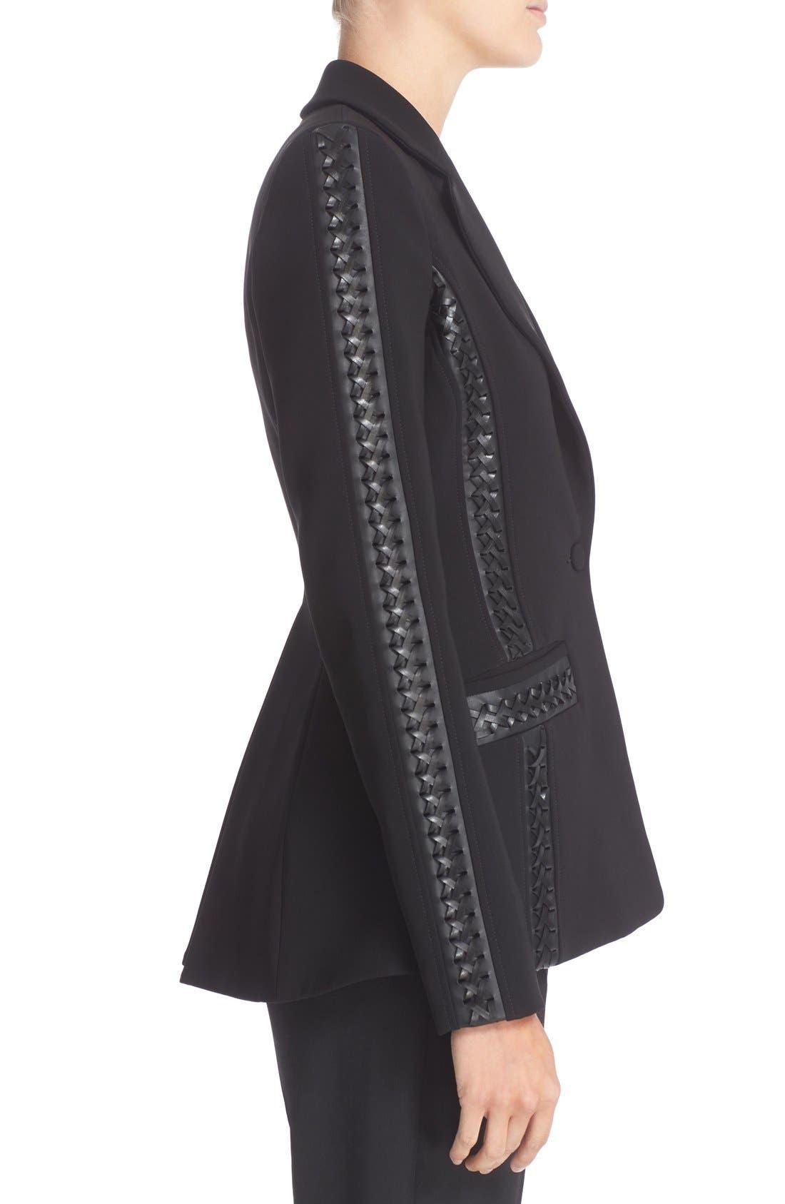Acacia Lace Detail Jacket,                             Alternate thumbnail 6, color,                             Black