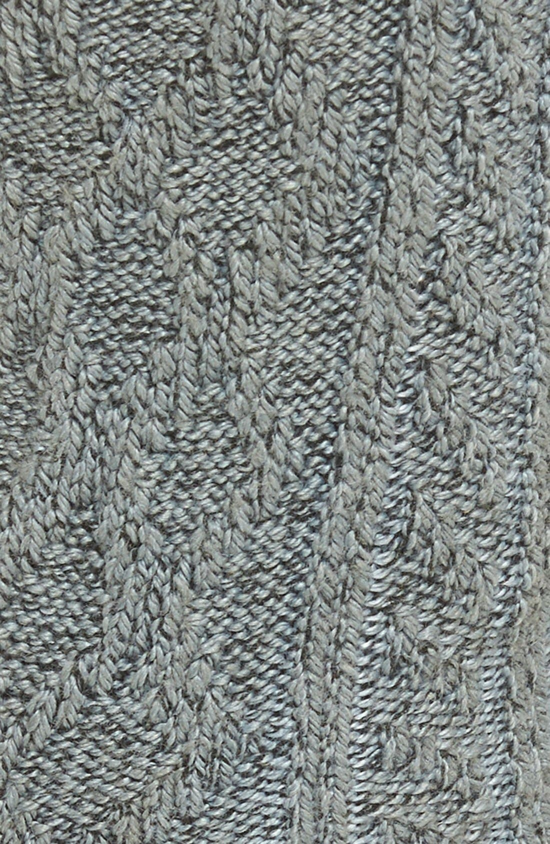 Marled Cable Crew Socks,                             Alternate thumbnail 2, color,                             Charcoal