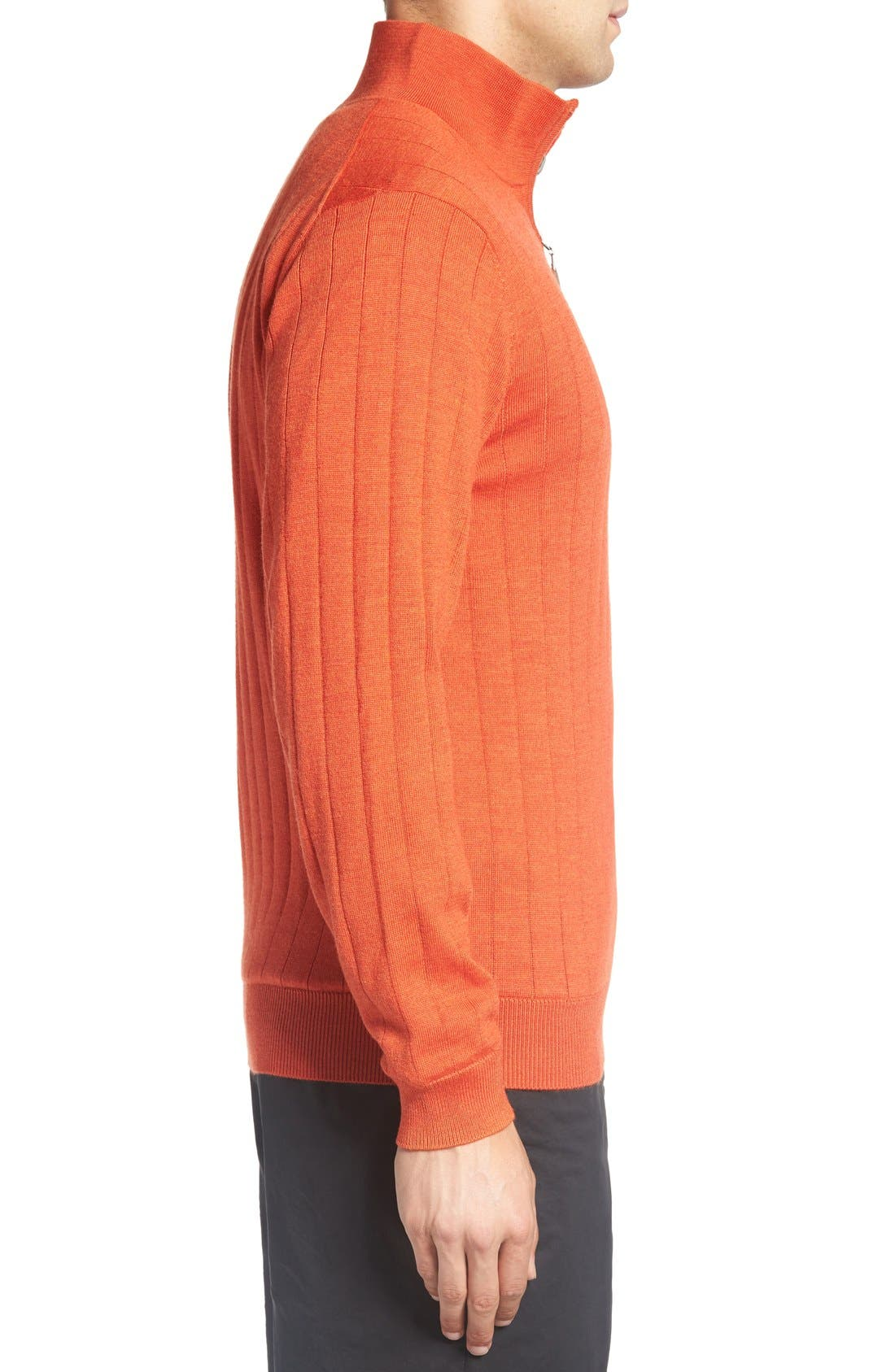Alternate Image 3  - Bobby Jones Windproof Merino Wool Quarter Zip Sweater