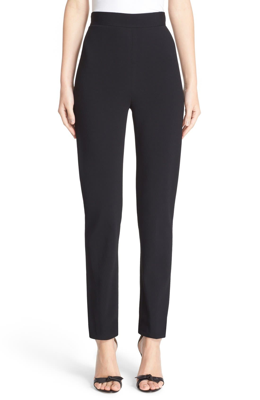 Skinny Cady Crepe Pants,                         Main,                         color, Black