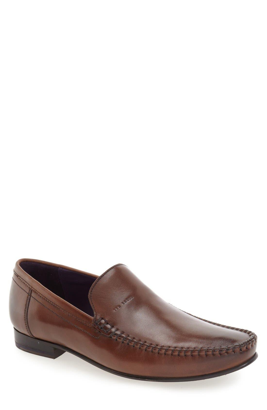 'Simeen 3' Venetian Loafer,                             Main thumbnail 1, color,                             Brown