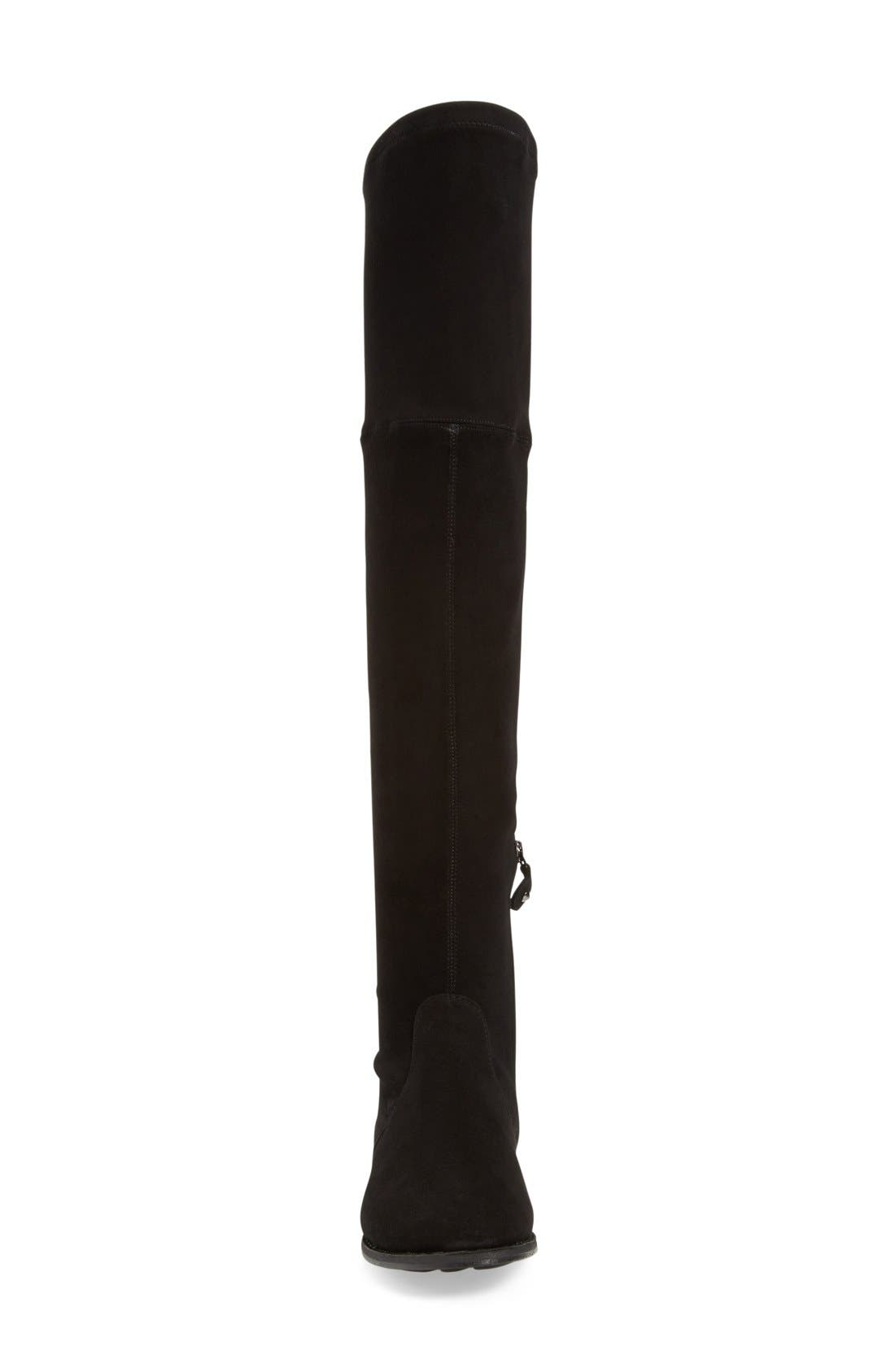 'Emma' Over the Knee Boot,                             Alternate thumbnail 3, color,                             Black Suede
