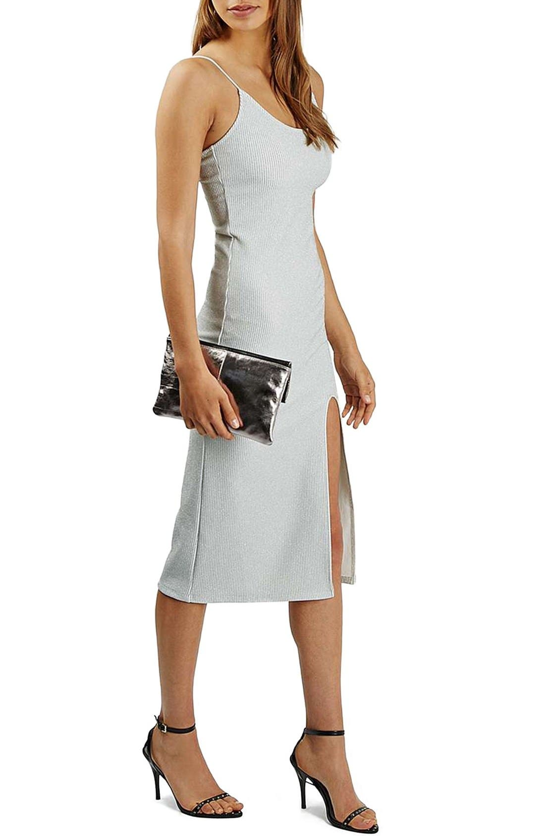 Alternate Image 1 Selected - Topshop Scoop Neck Midi Dress