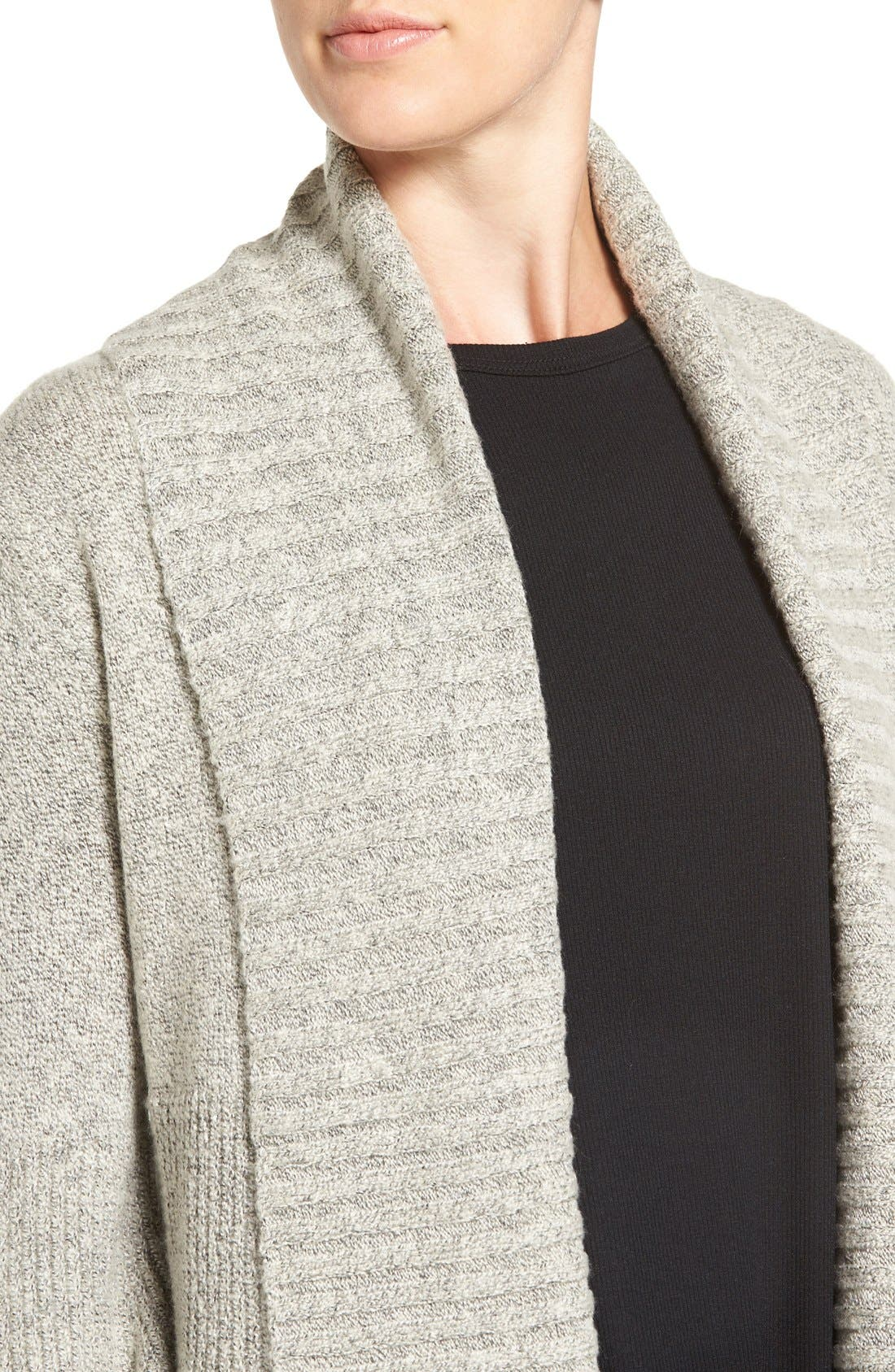 Alternate Image 4  - Hinge Ribbed Cardigan