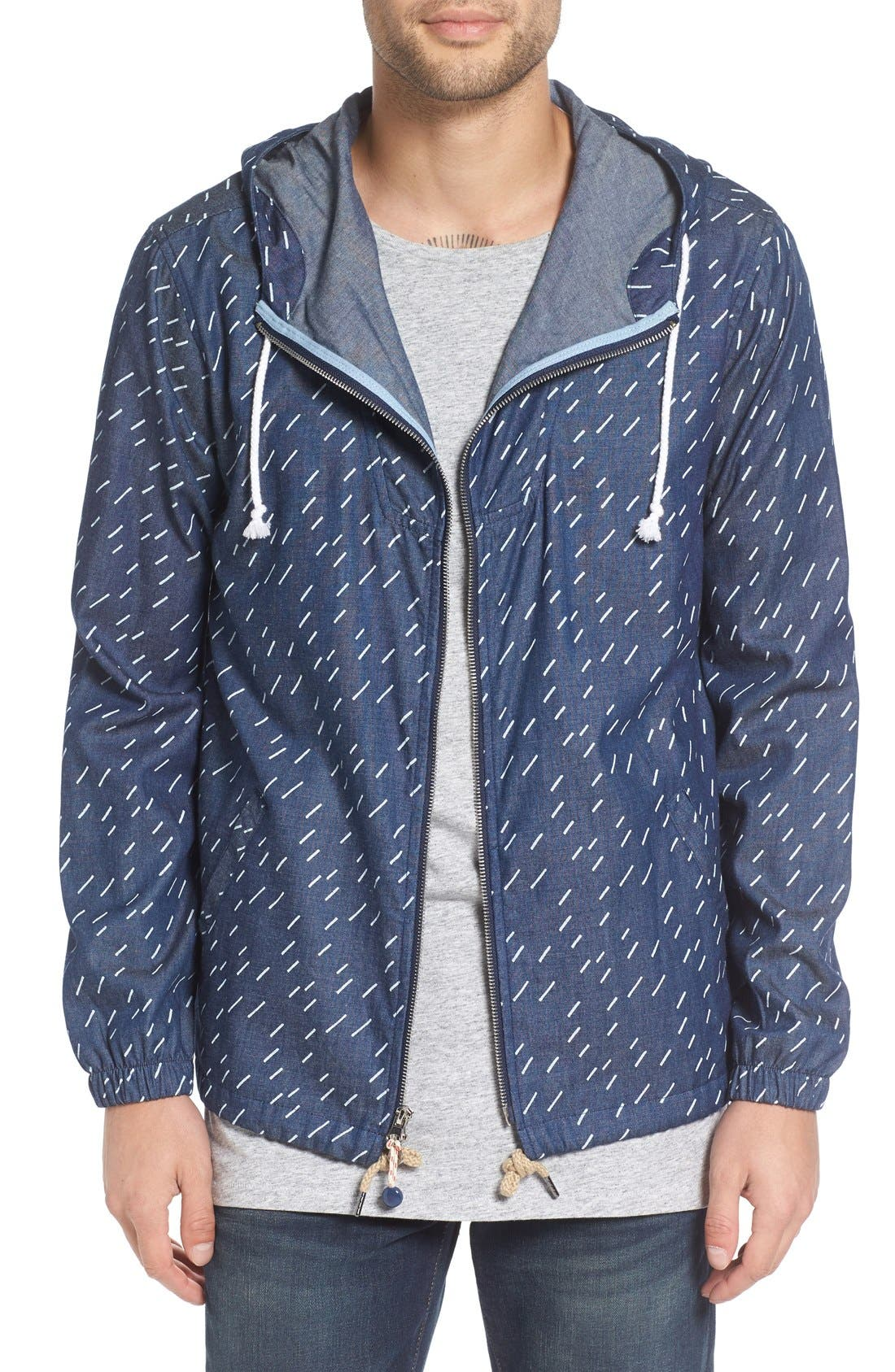 Altru 'Foundry' Rain Print Chambray Jacket